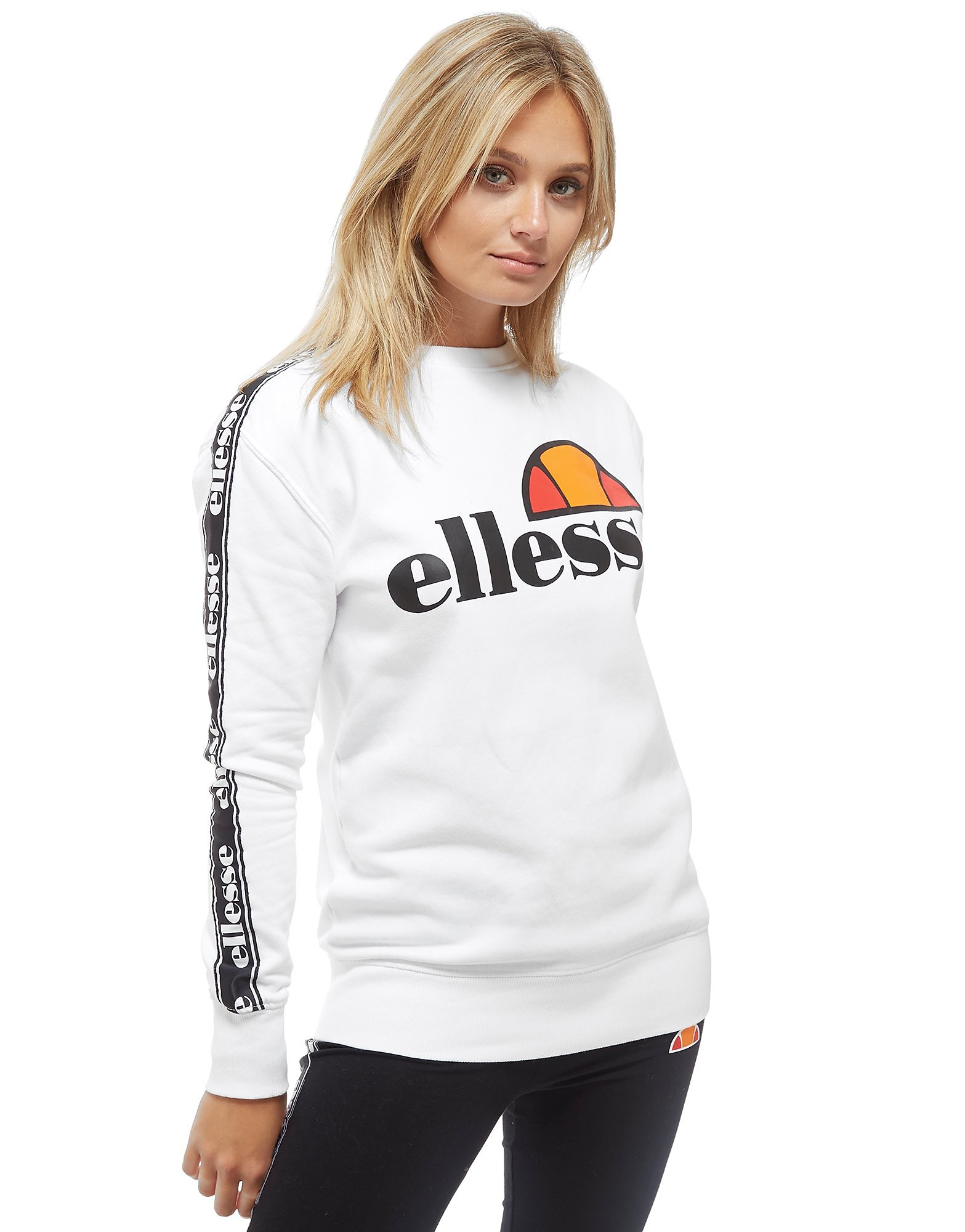 Ellesse Tape Sleeve Crew Sweatshirt