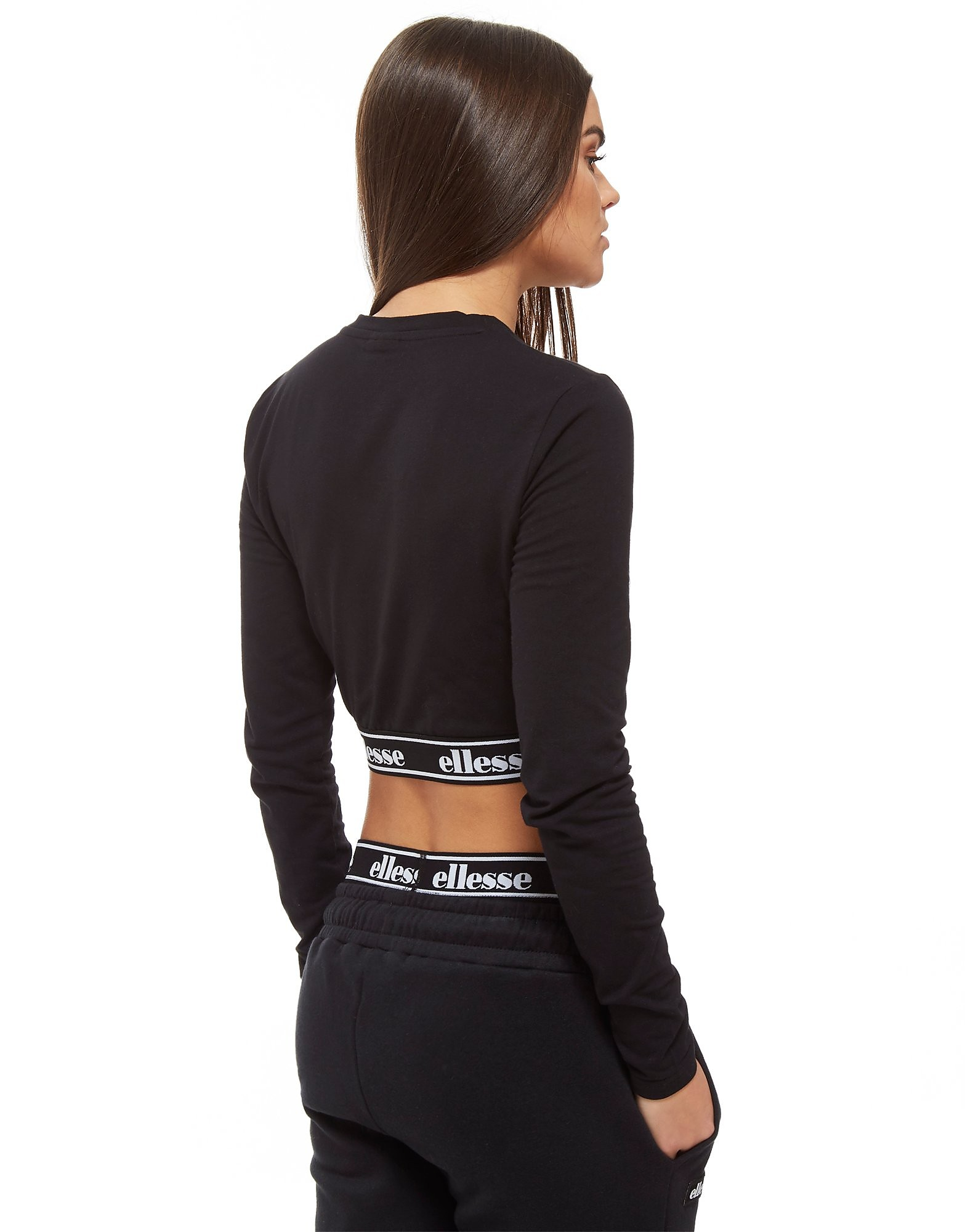 Ellesse Tape Waist Long Sleeve Crop Top