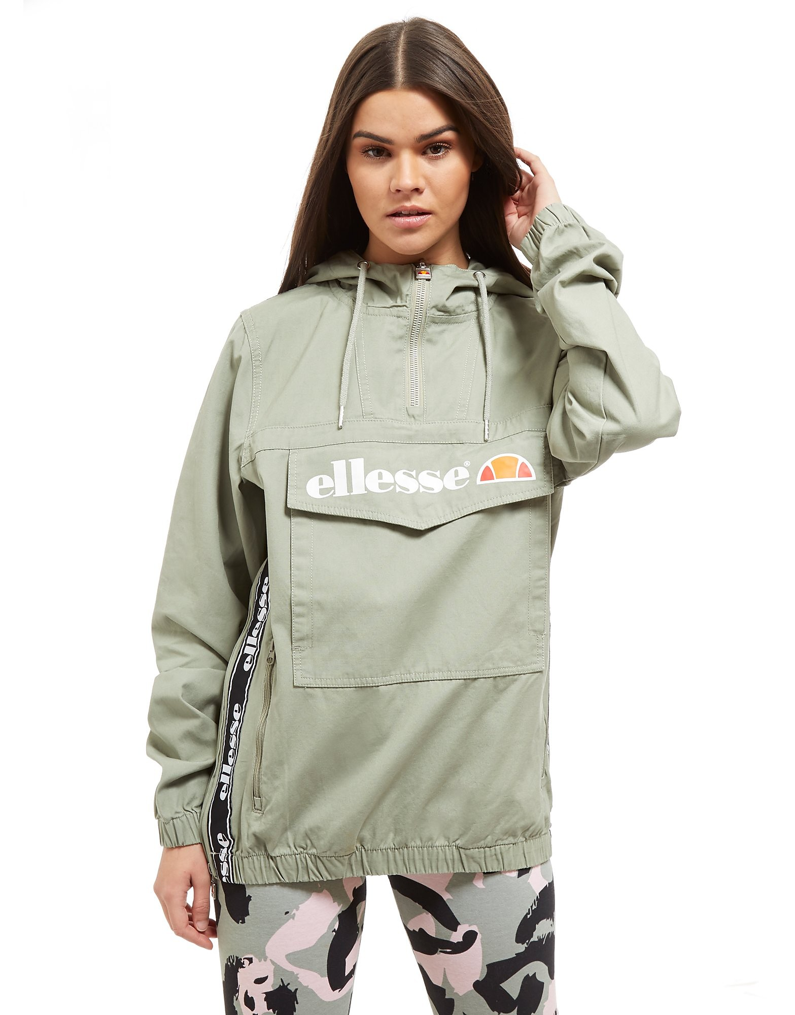 Ellesse Tape 1/4 Zip Hooded Jacket