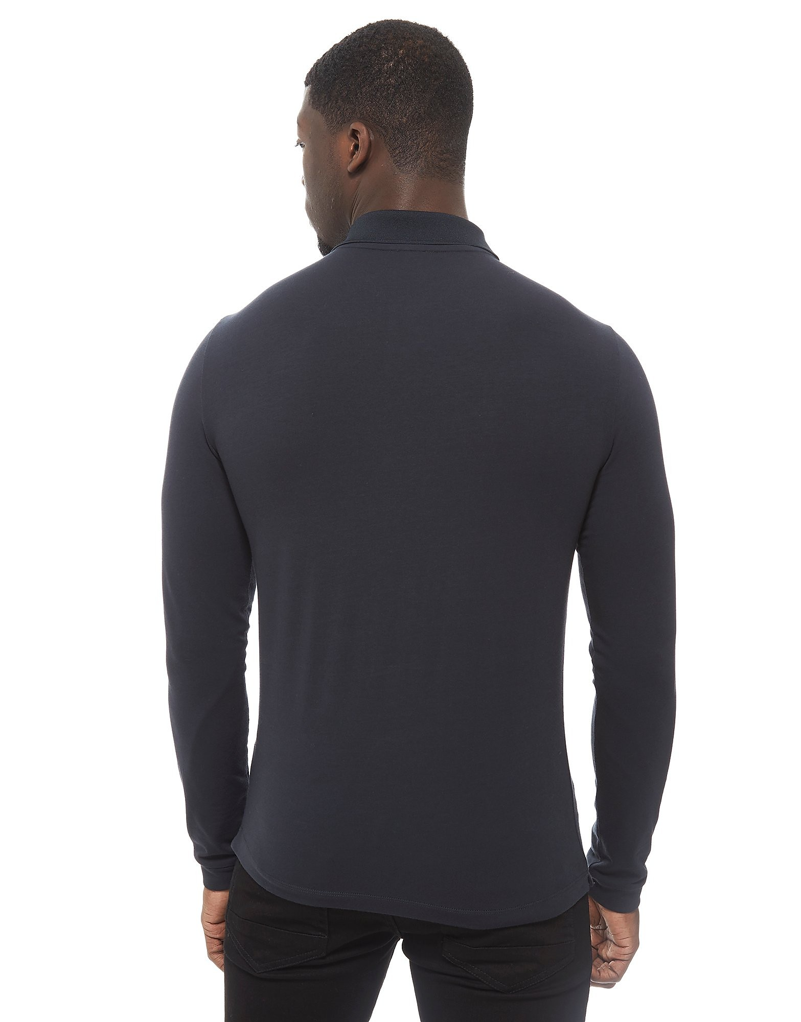 Emporio Armani EA7 Long Sleeve Shield Polo Shirt