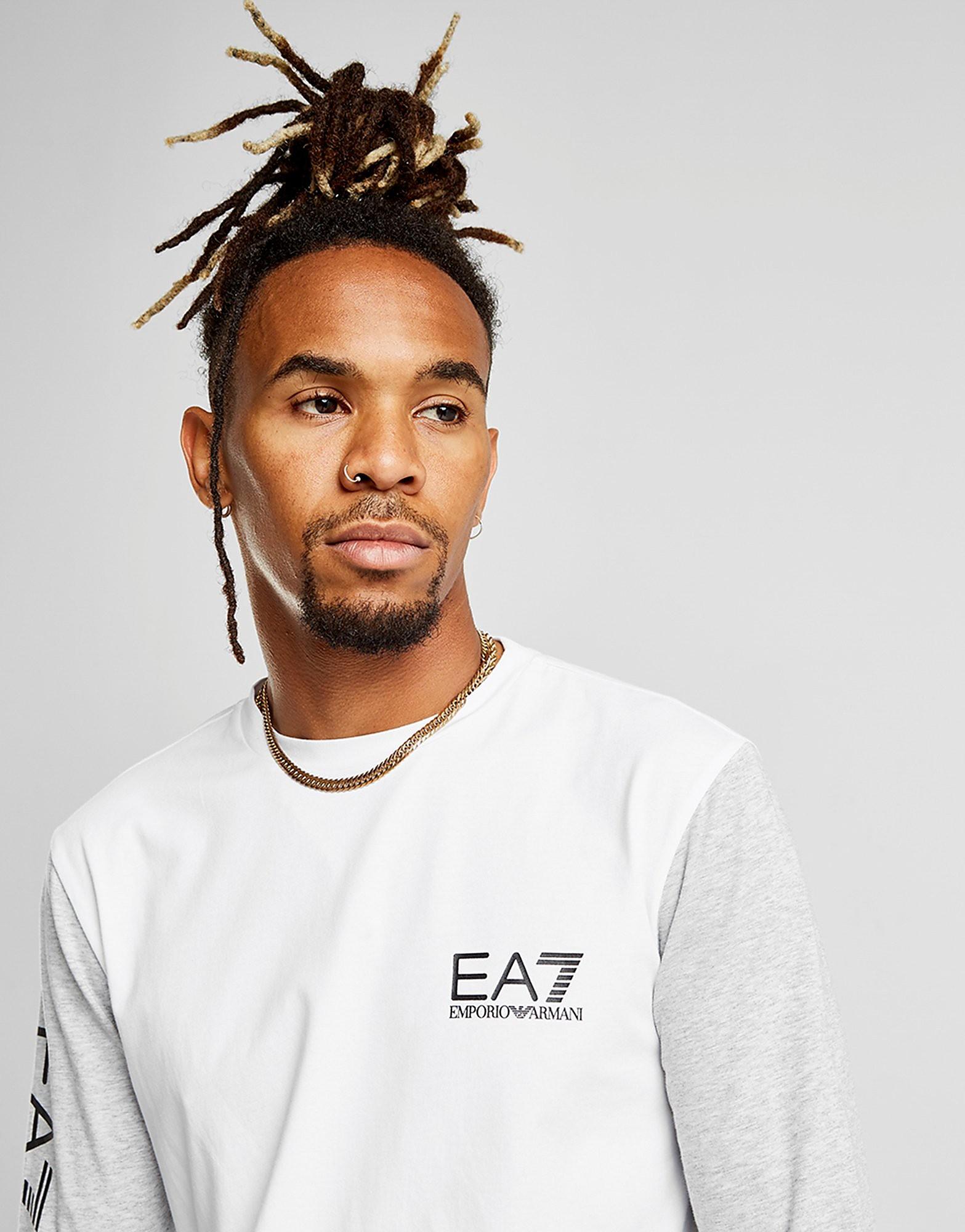 Emporio Armani EA7 Contrast Long Sleeve T-Shirt Heren