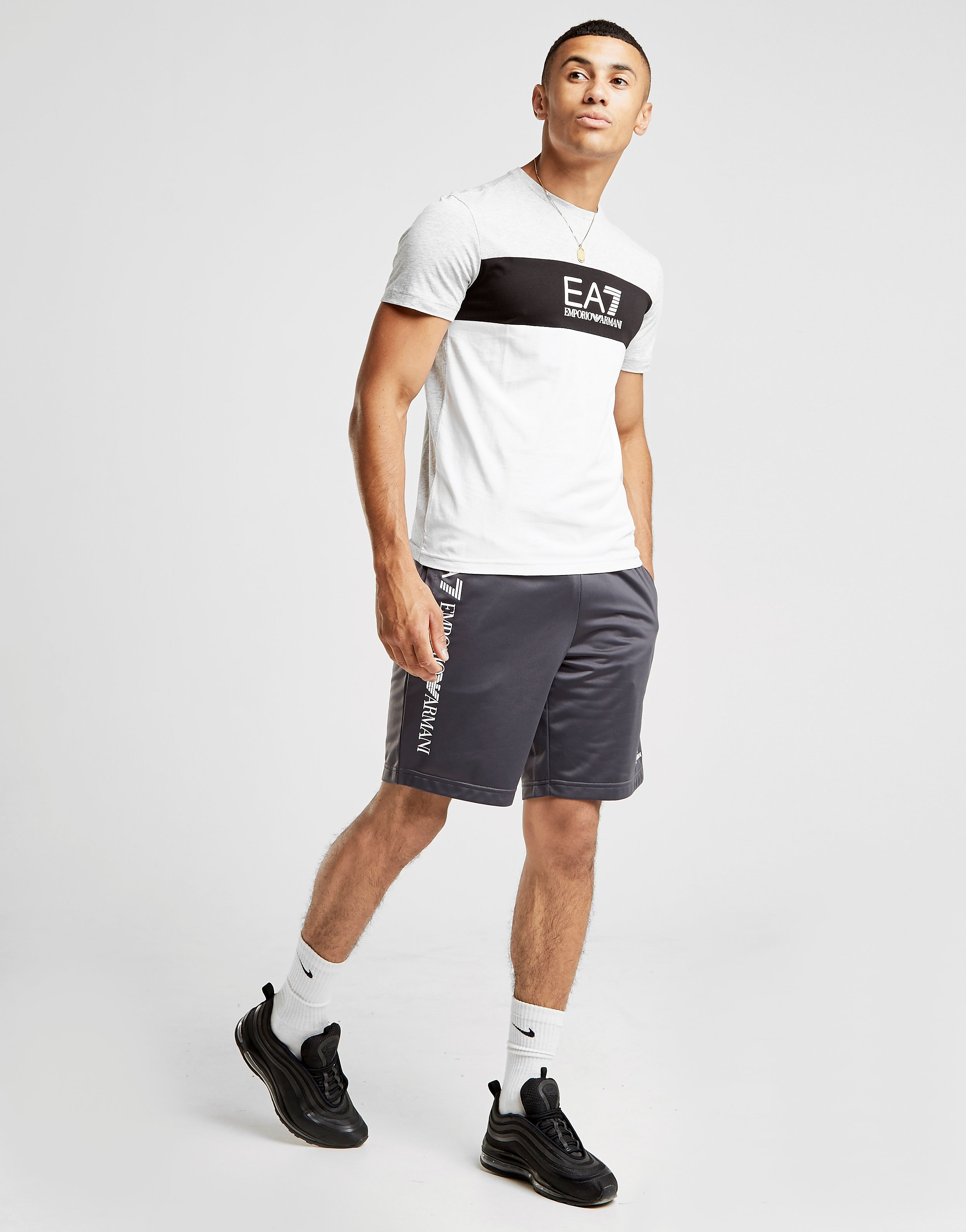 Emporio Armani EA7 Colourblock Central Logo T-Shirt