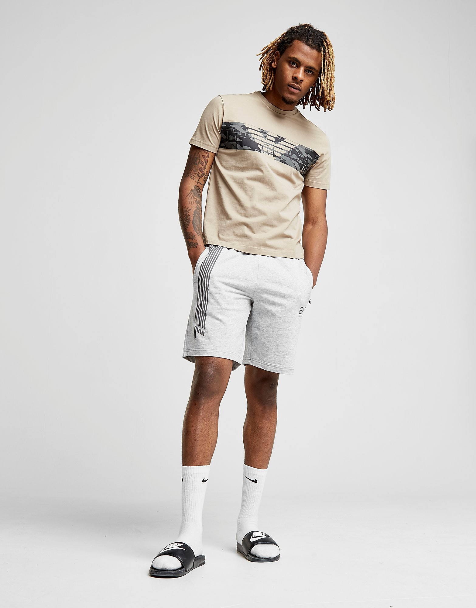 Emporio Armani EA7 Central Eagle Logo T-Shirt