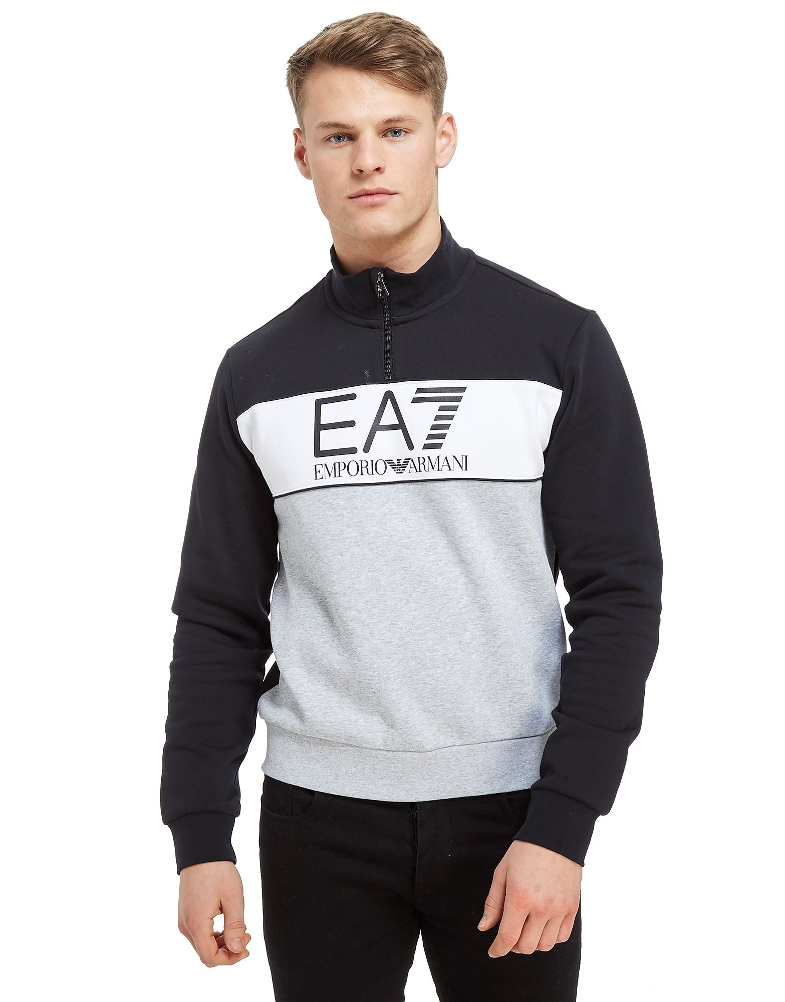 Emporio Armani EA7 1/4 Zip Colourblock Track Top