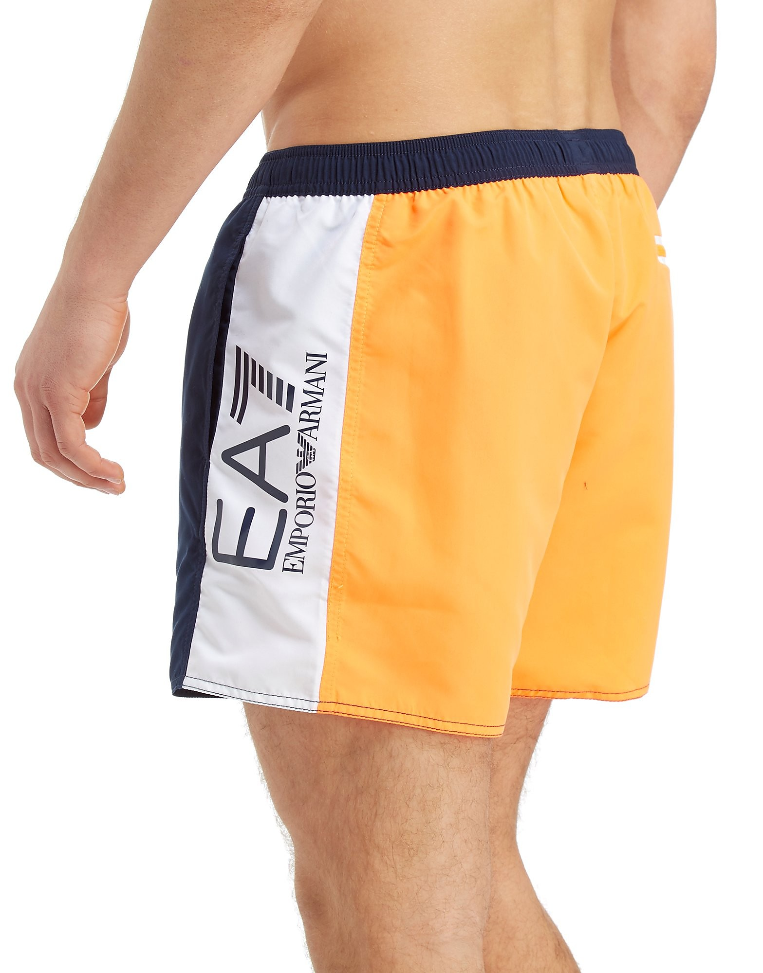 Emporio Armani EA7 Colourblock Swim Shorts Heren