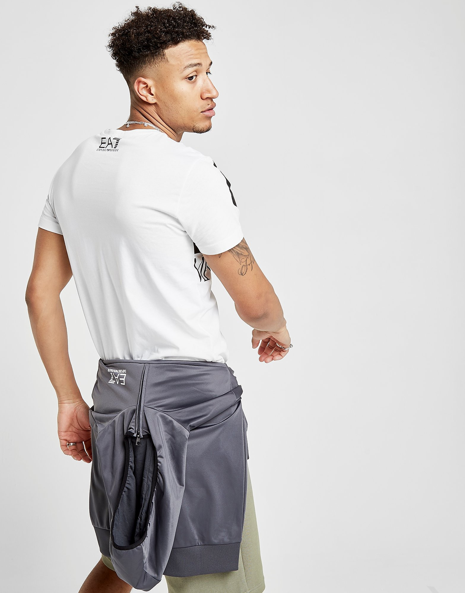 Emporio Armani EA7 Large All Over Brand T-Shirt