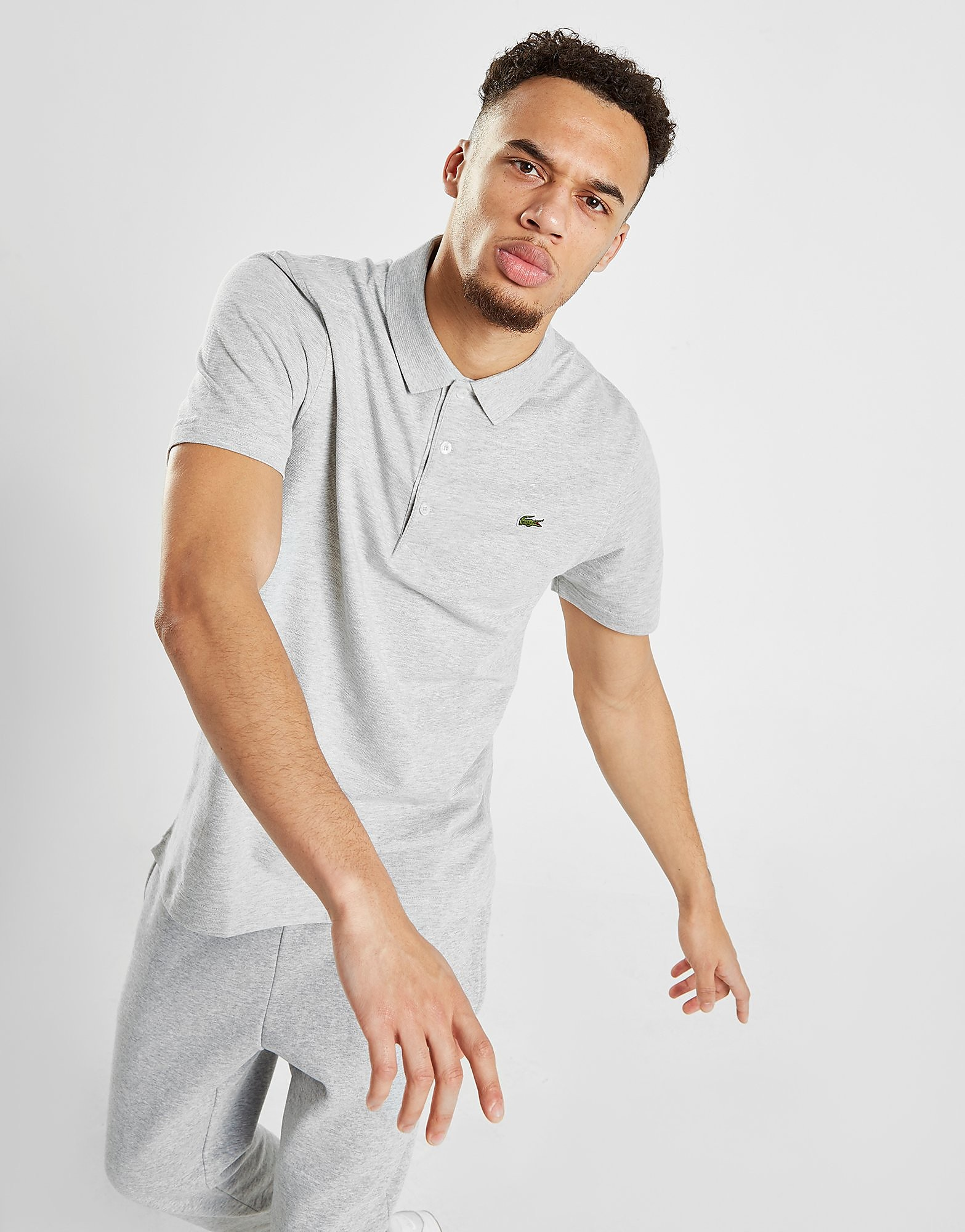 Lacoste Alligator Short Sleeve Polo Shirt - Grijs - Heren