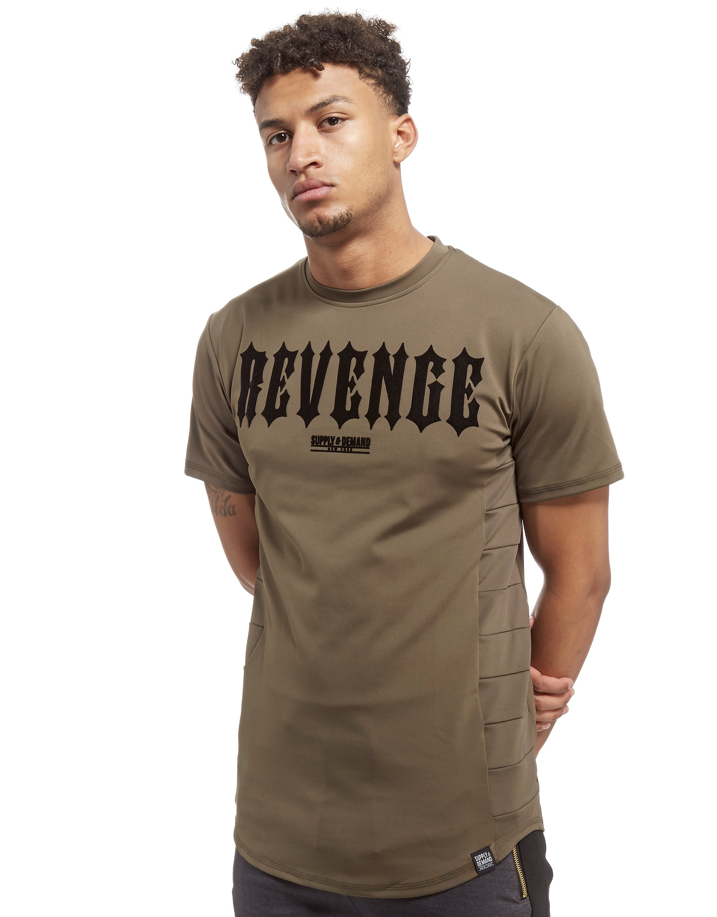 Supply & Demand Gothic Snake T-Shirt Heren