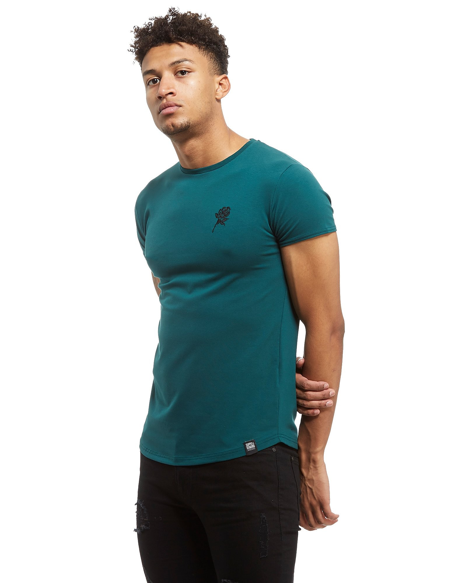 Supply & Demand Reps T-Shirt Aquamarin-Schwarz