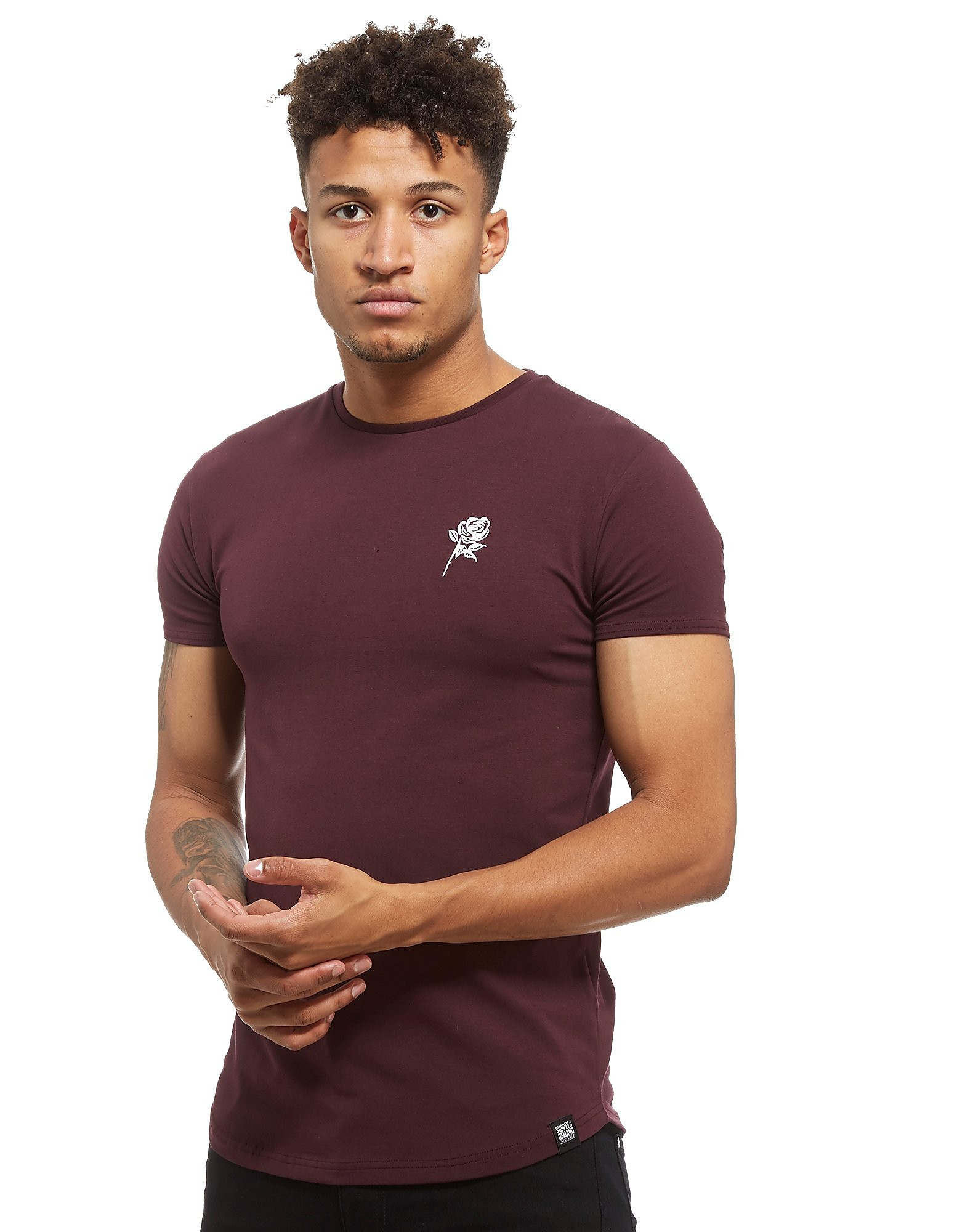 Supply & Demand Reps T-Shirt - Only at JD, Burgundy/White