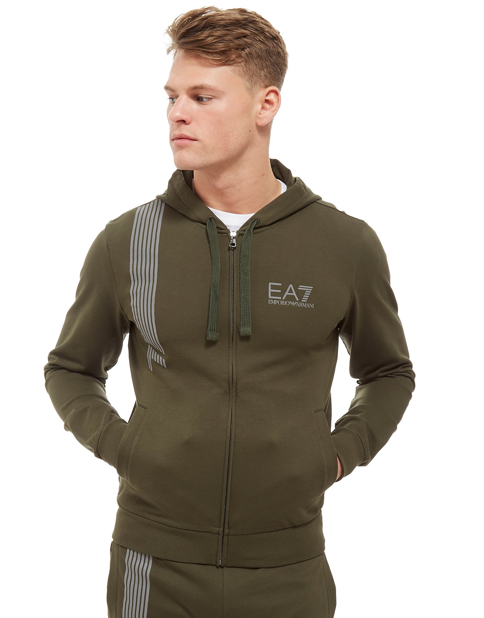 Emporio Armani EA7 7 Lines Zip Through Hoodie