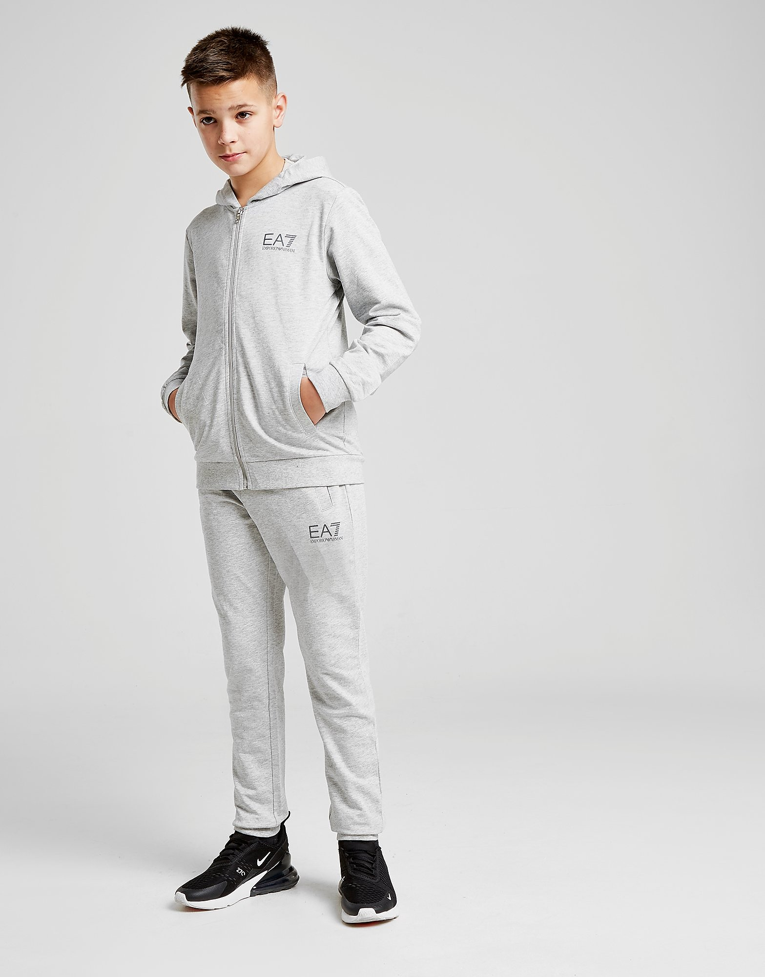 Emporio Armani EA7 Core Fleece Full Zip Suit Junior - Grijs - Kind