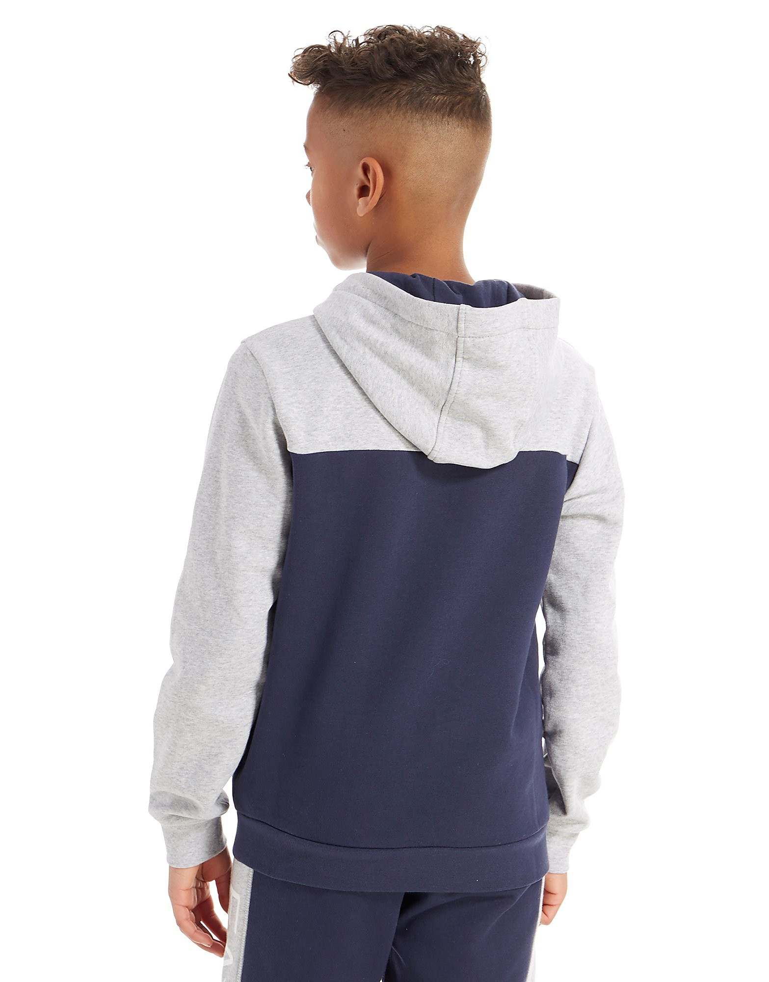 Emporio Armani EA7 Colourblock Fleece Overhead Hoodie Junior
