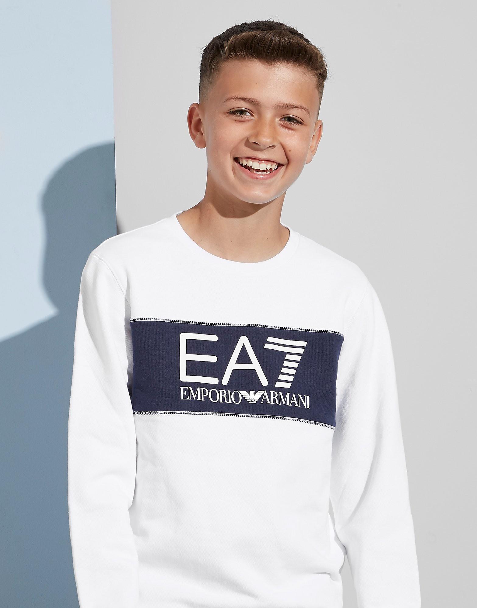 Emporio Armani EA7 Colour Block Fleece Crew Sweatshirt Junior