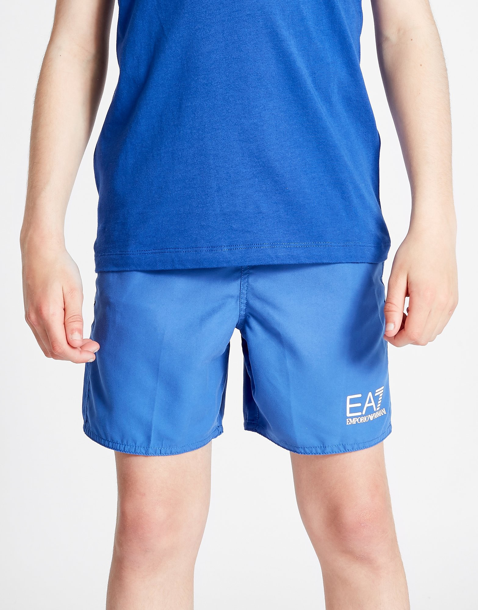 Emporio Armani EA7 Core Swim Shorts Junior - Blauw - Kind