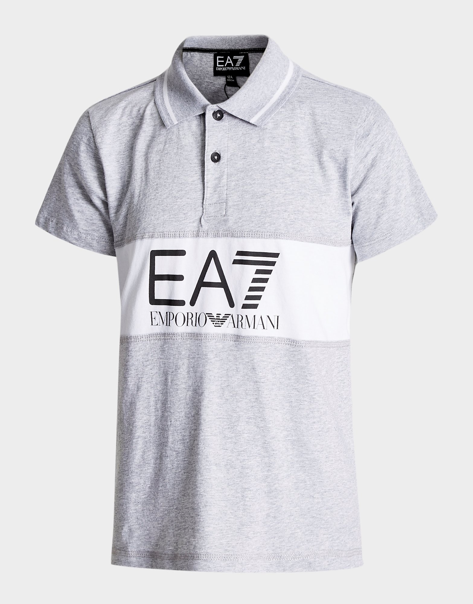Emporio Armani EA7 Panel Logo Polo Shirt Junior - Wit - Kind