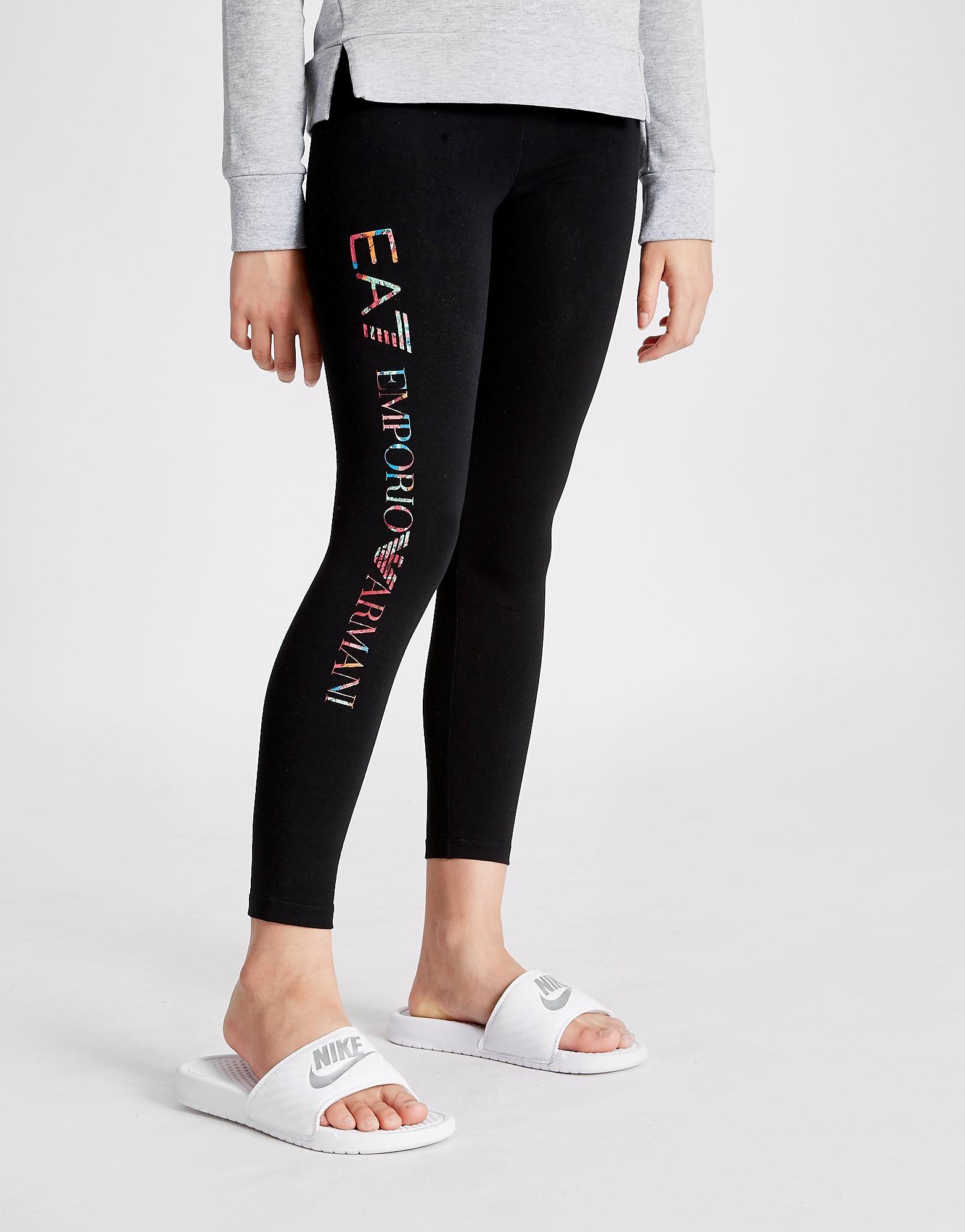 Emporio Armani EA7 Girls' Floral Leggings Junior
