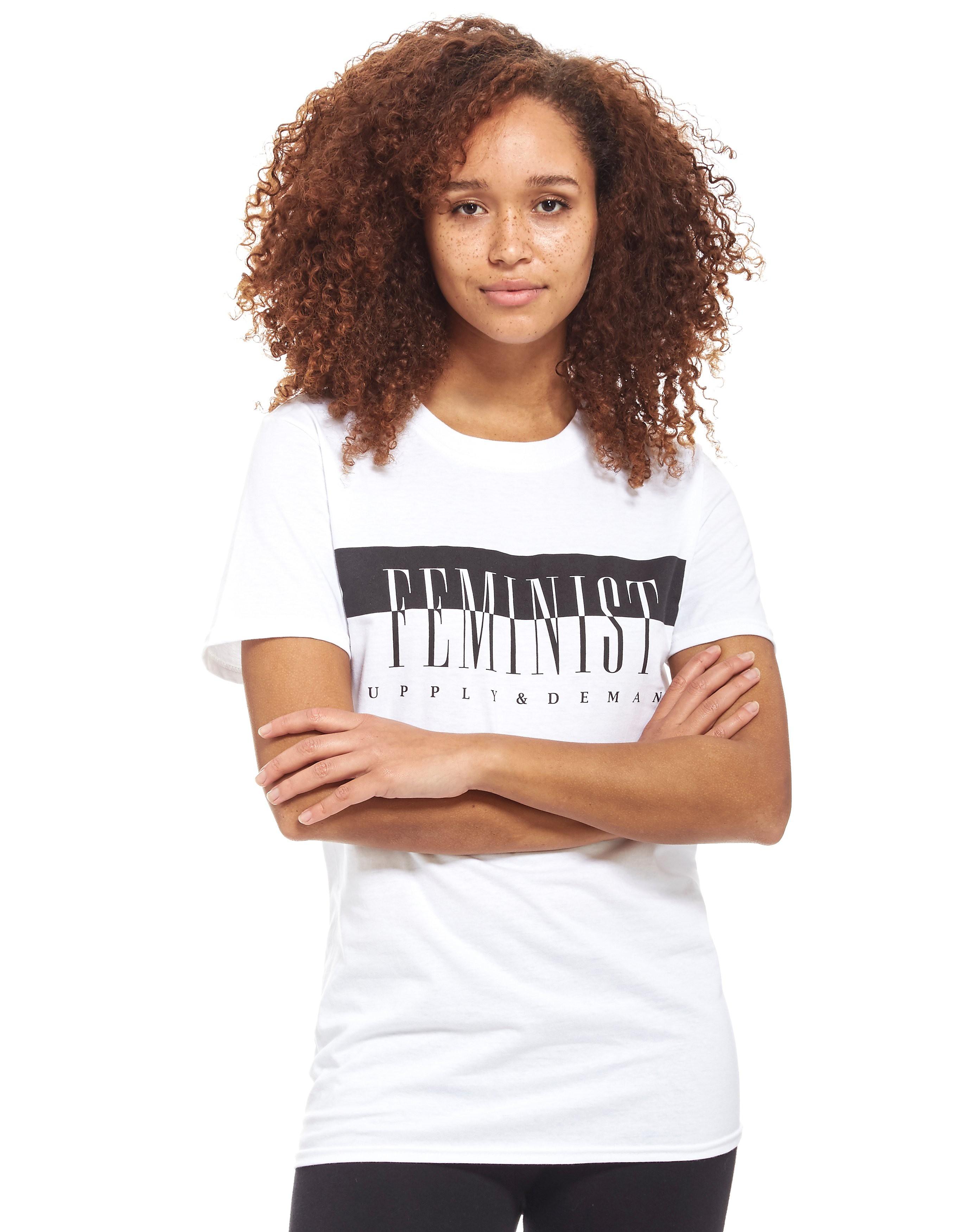 Supply & Demand Printed T-Shirt Weiss