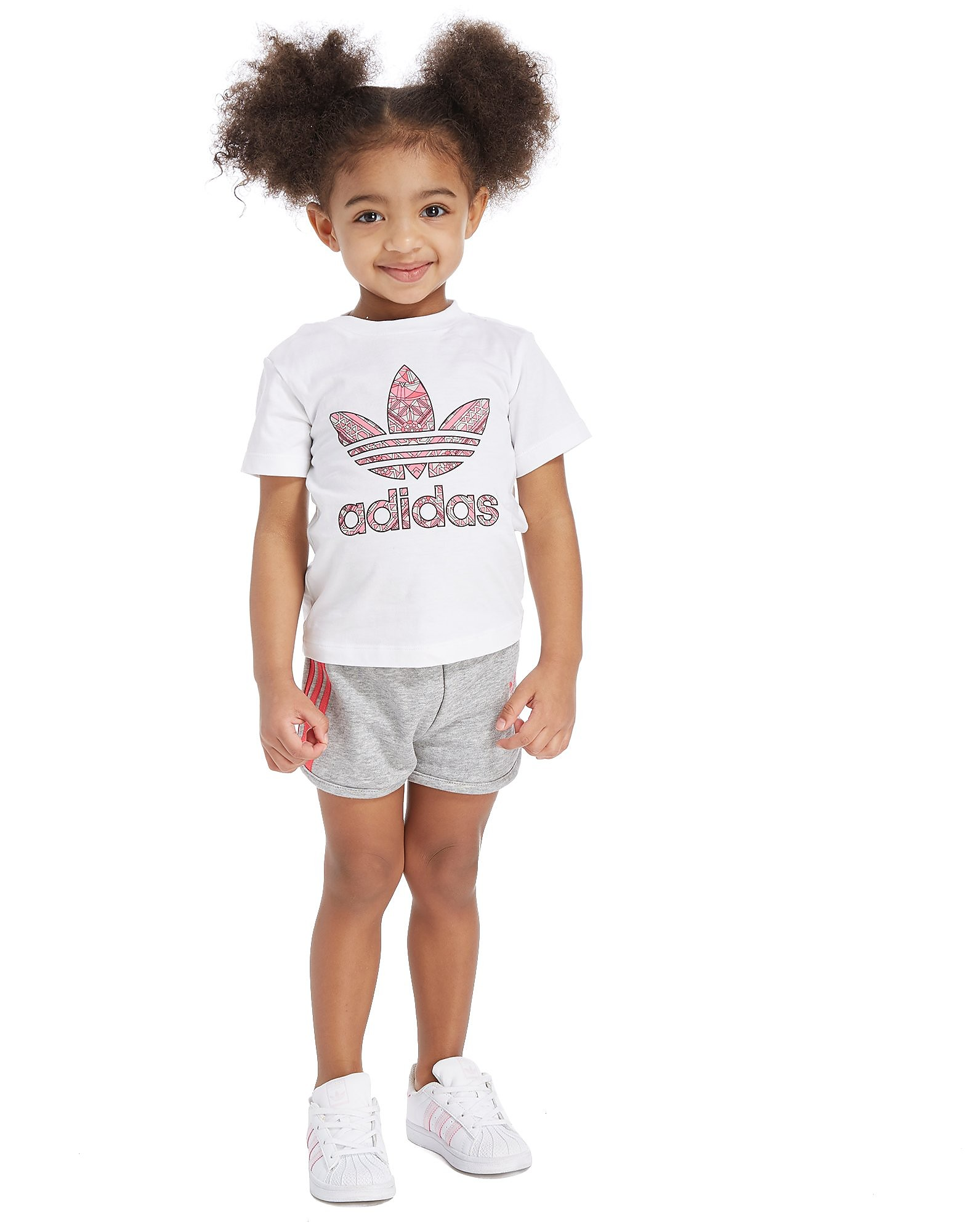 adidas Originals Girls' Infil T-Shirt & Shorts Set Infant
