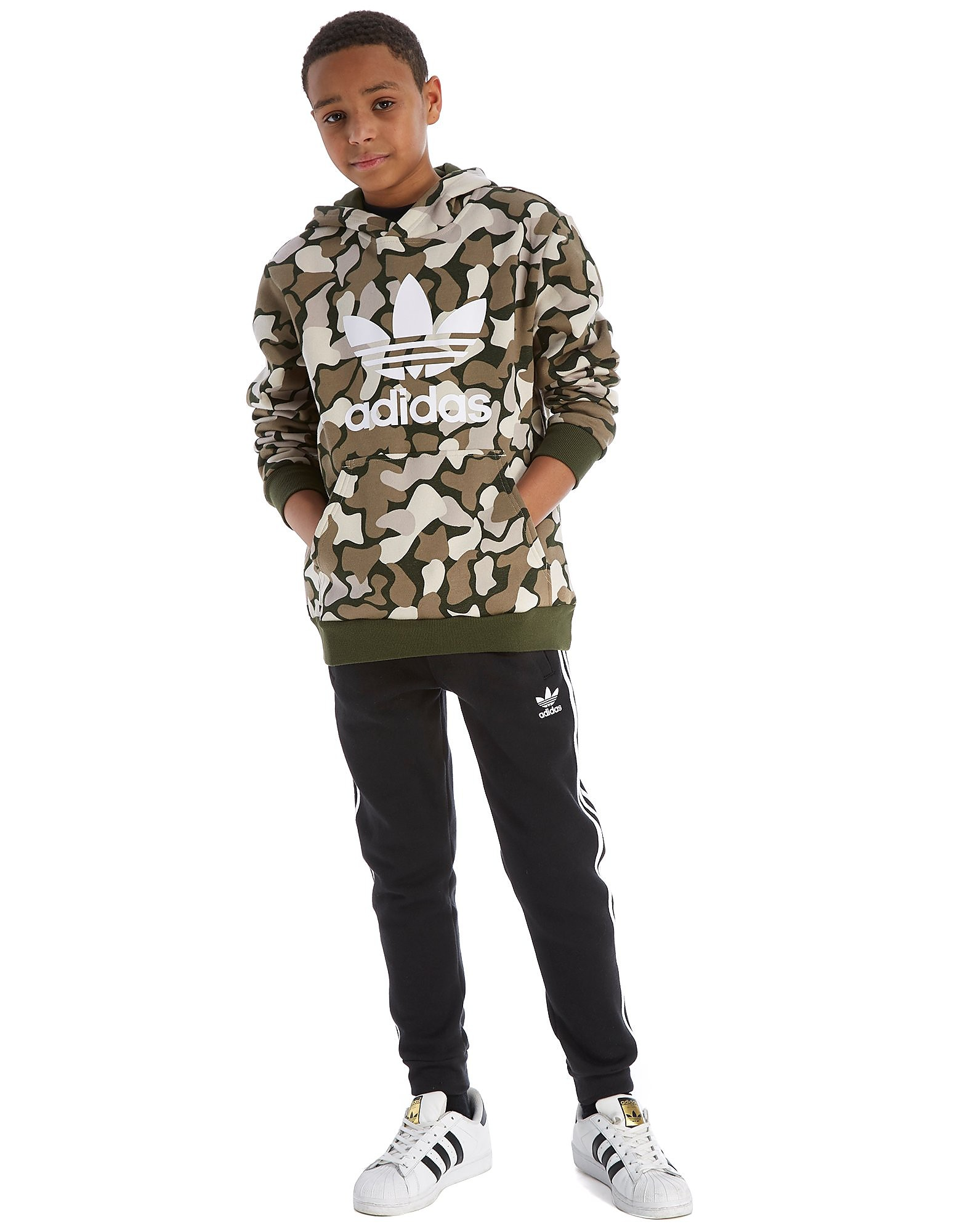adidas Originals Camo Overhead Hoodie Junior