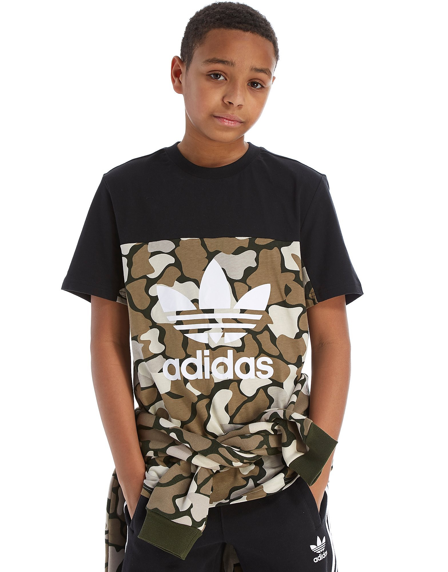 adidas Originals Camo Colourblock T-Shirt Junior