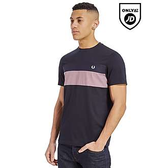 Fred Perry Gingham Panel T-Shirt