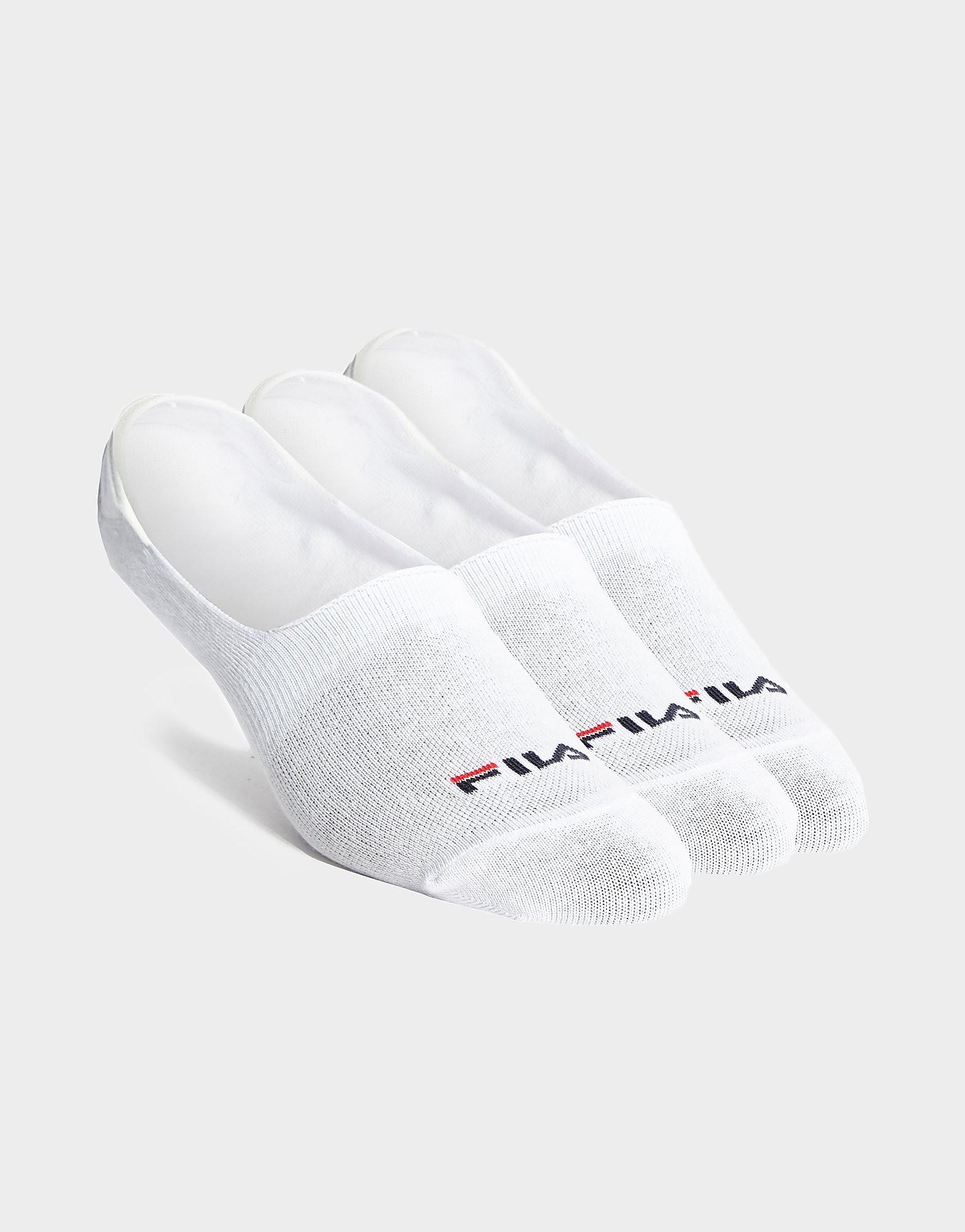 Fila Invisible Socks 3-Pack - Wit - Heren