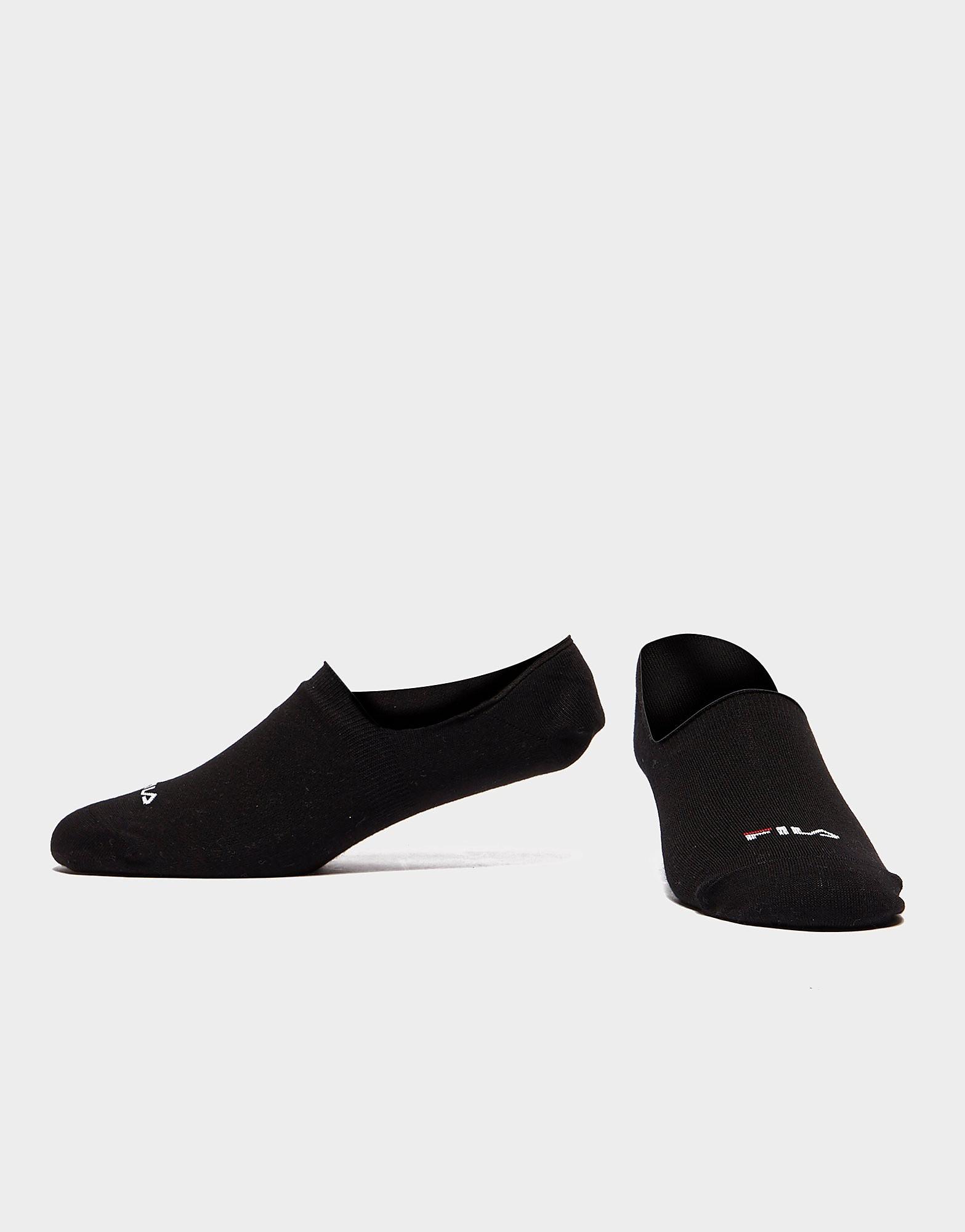 Fila Invisible Socks 3 Pack - Zwart - Heren
