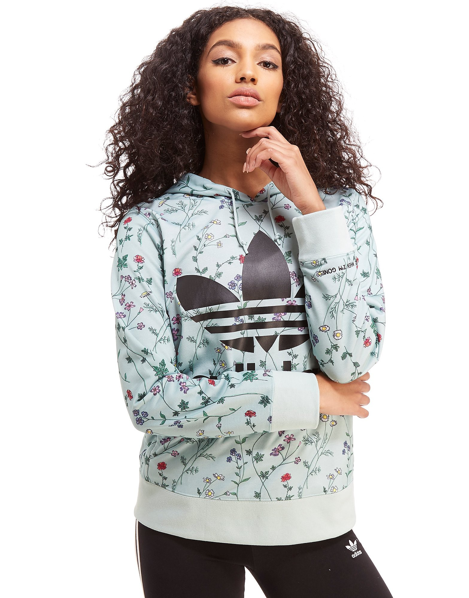 adidas Originals All Over Print Floral Overhead Hoodie