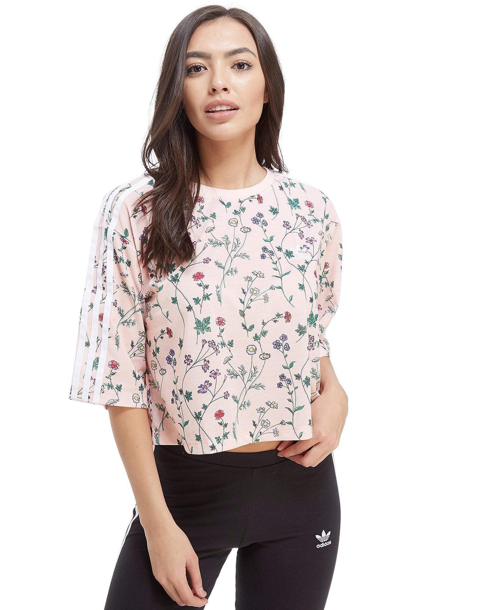adidas Originals All Over Print Floral Crop T-Shirt
