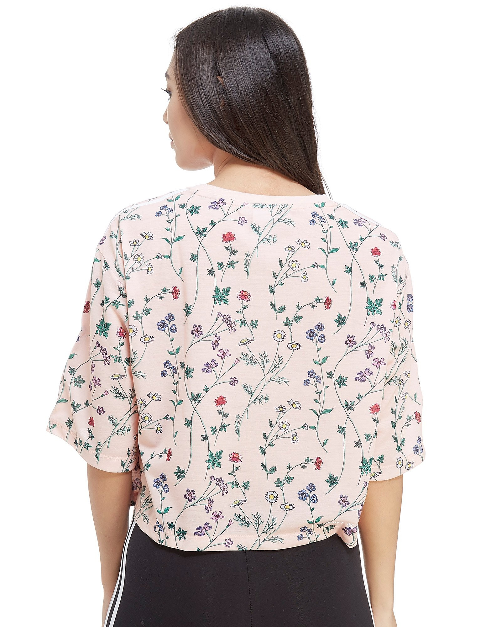 adidas Originals All Over Print Floral Crop T-Shirt