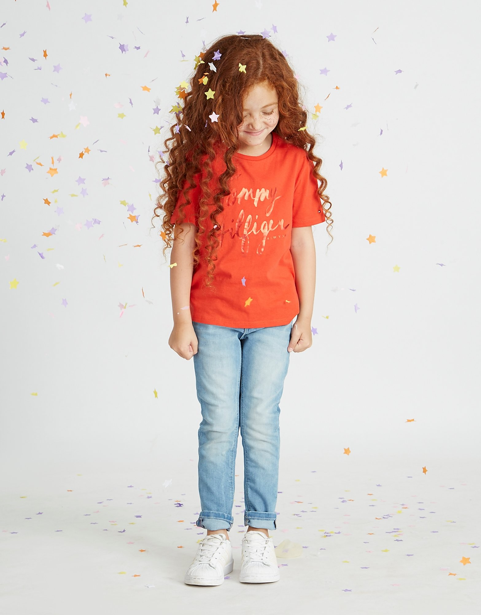 Tommy Hilfiger Girls' Ame Logo T-Shirt Children