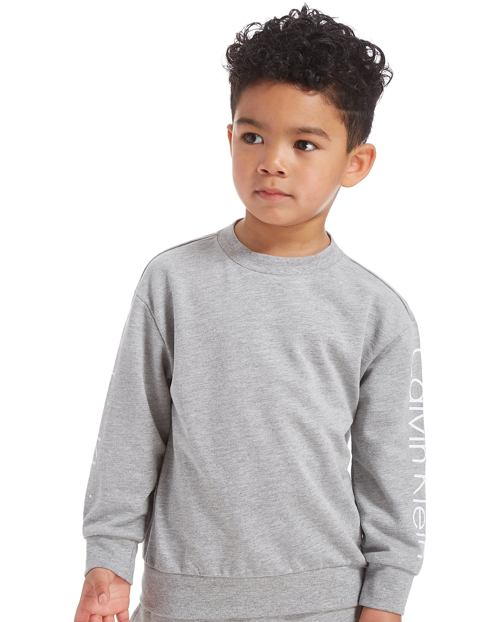 Calvin Klein Long Sleeve Logo Crew Sweatshirt Children