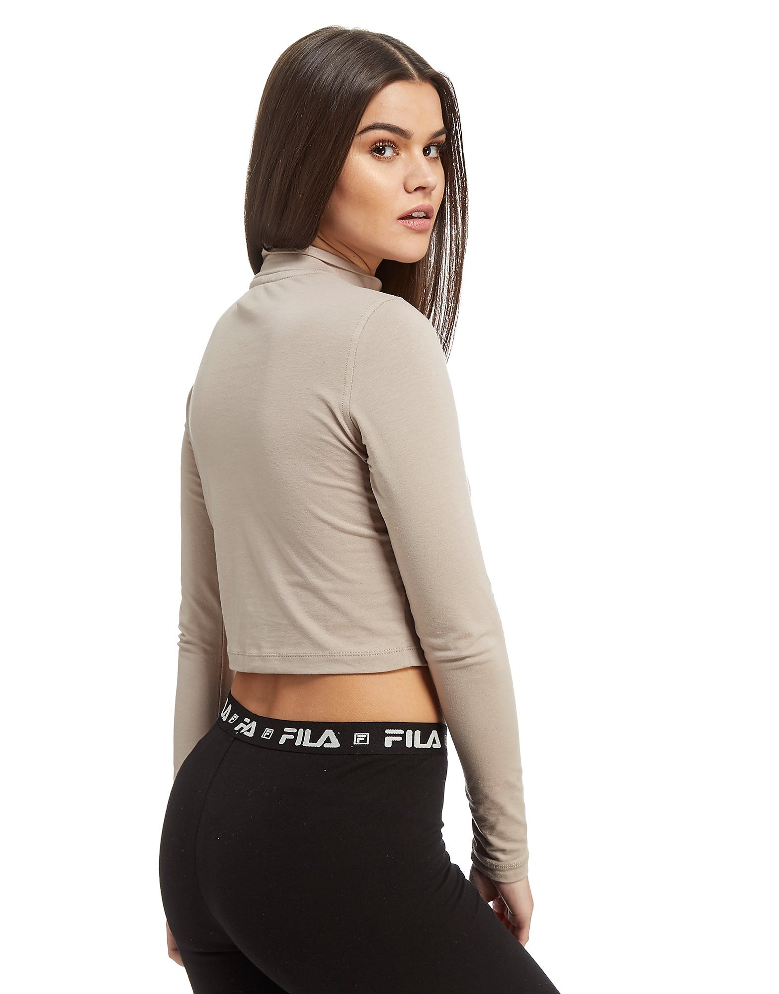 Fila Long Sleeve Cropped Top