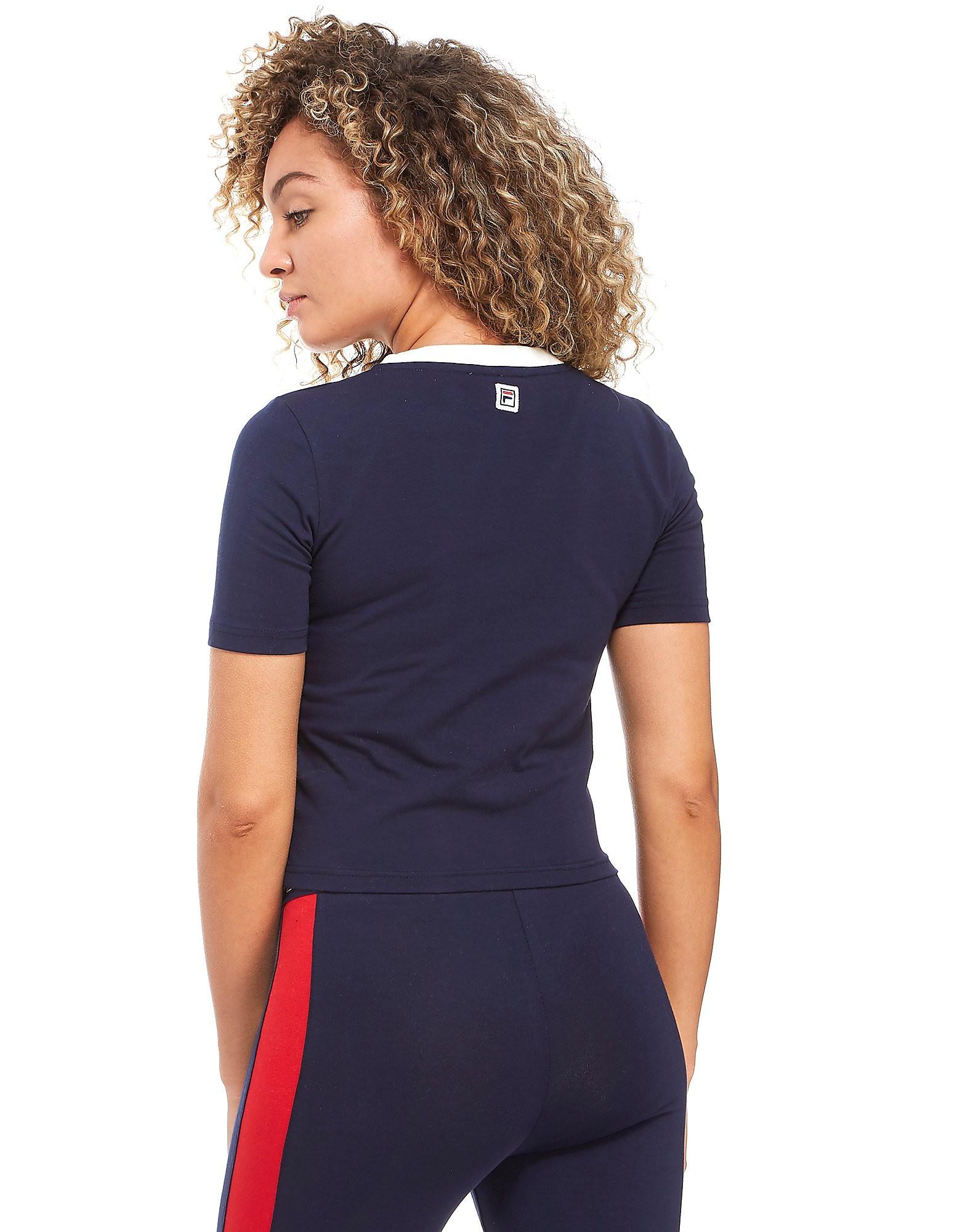Fila Logo Crop T-Shirt Dames
