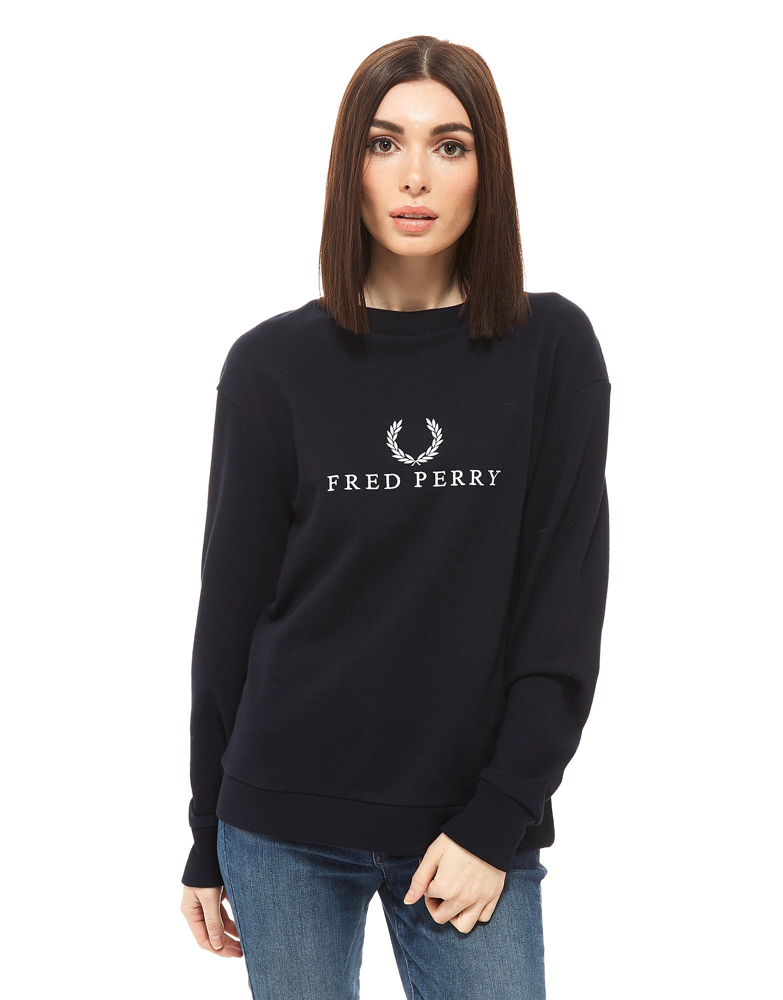 Fred Perry Sports Authentic Embroidered Crew Sweatshirt