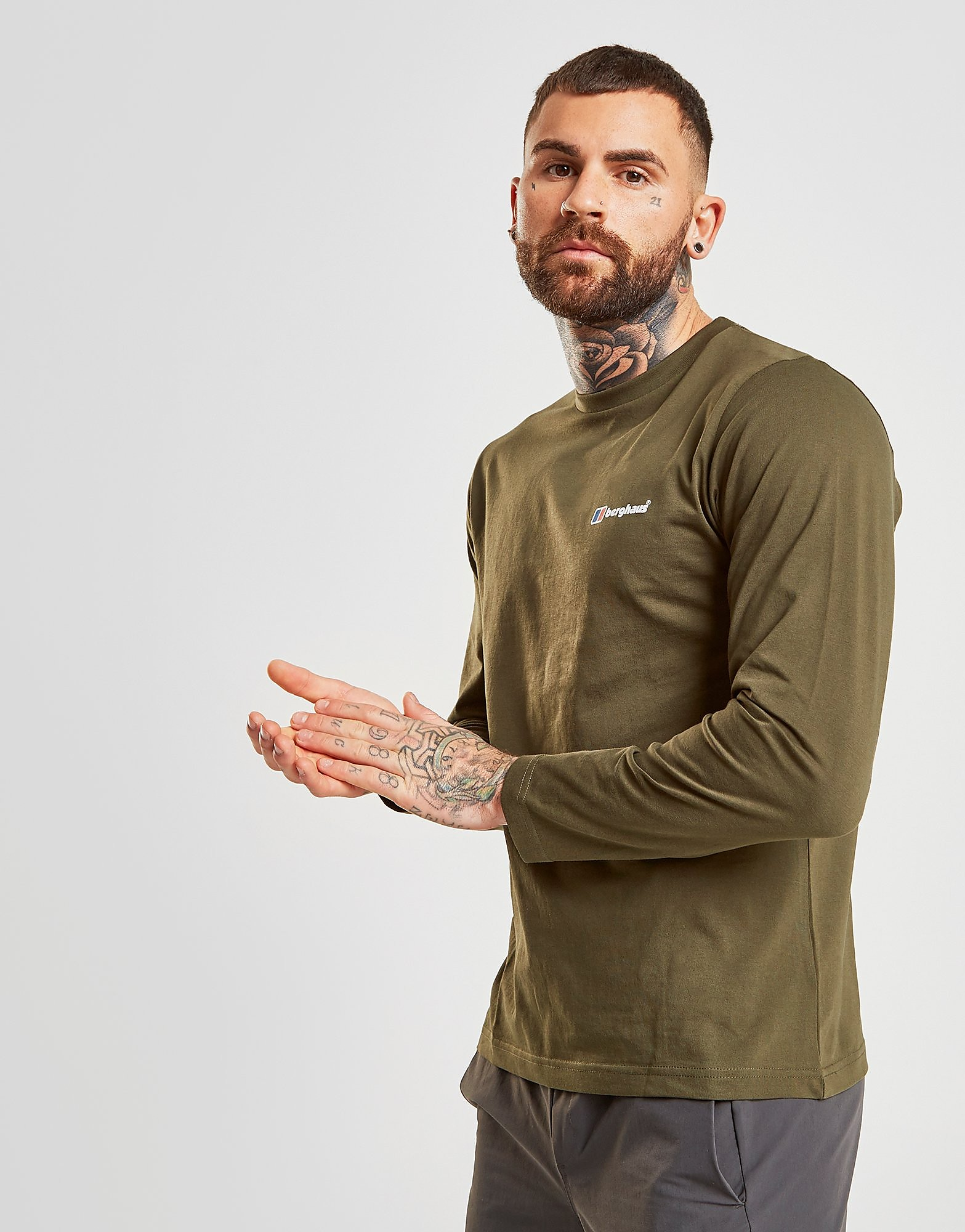 Berghaus Long Sleeve Back Logo T-Shirt