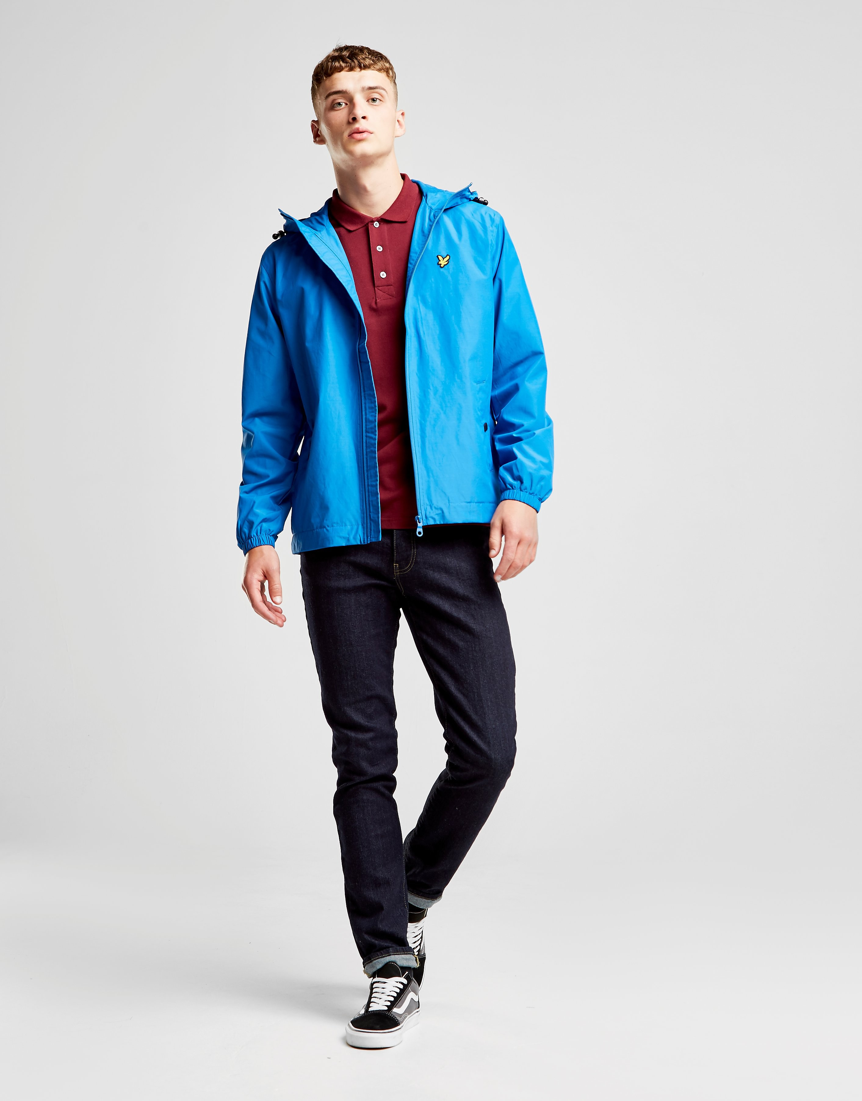Lyle & Scott Zip Through Hooded Core Jacket Heren - alleen bij JD - Lake Blue - Heren