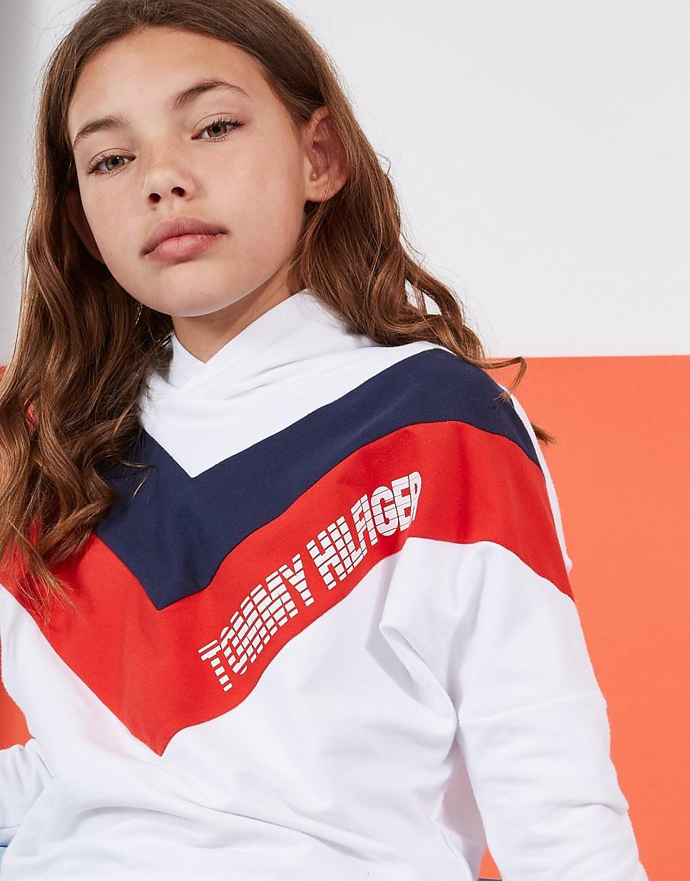 Tommy Hilfiger Girls' Alert Colourblock Hoodie Junior