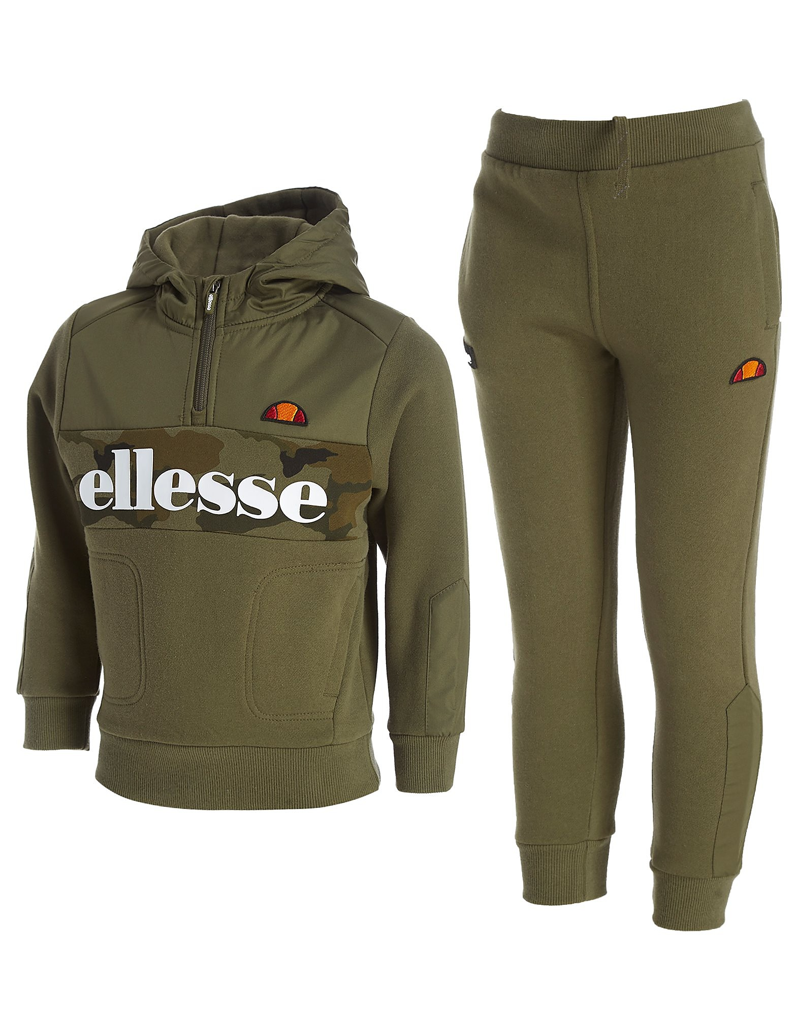 Ellesse Goldro 1/4 Zip Tracksuit Children