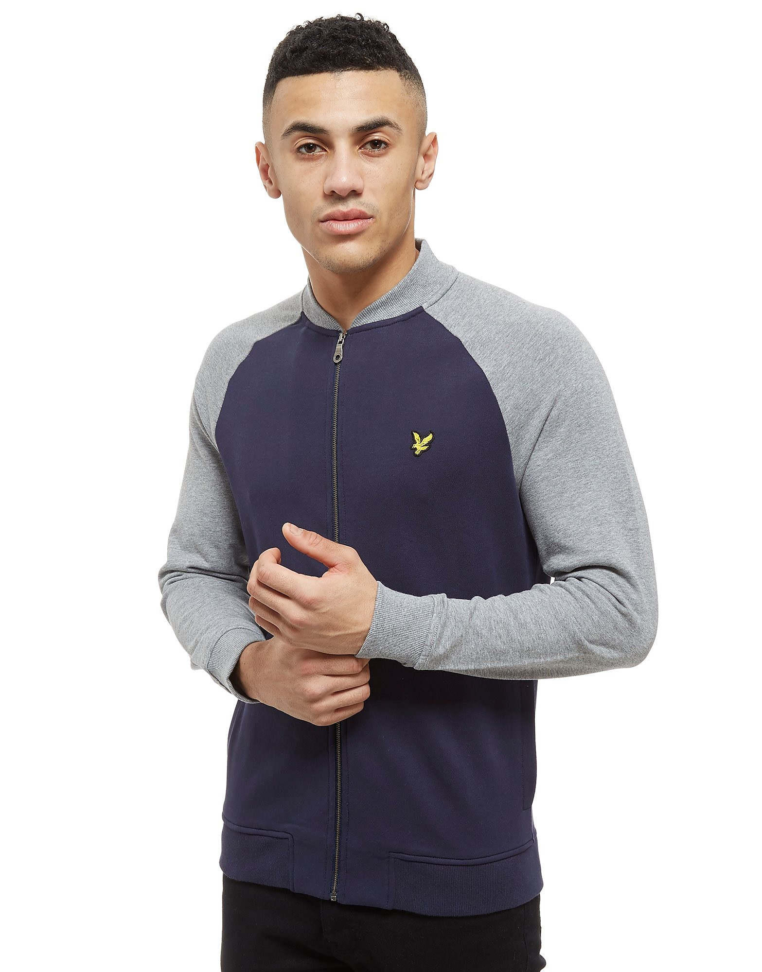 Lyle & Scott Raglan Zip Through Track Top Heren