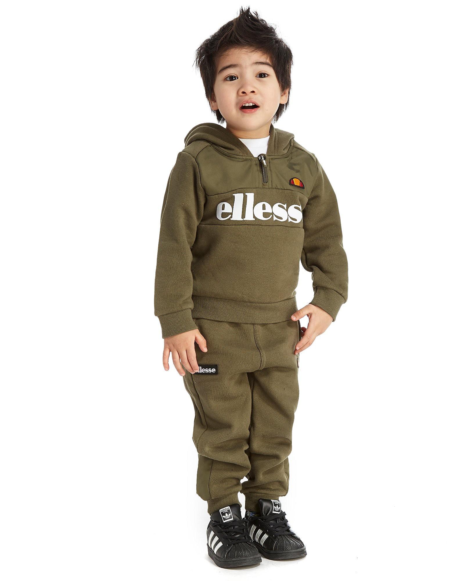 Ellesse Calleno 1/4 Zip Suit Infant - alleen bij JD - Khaki - Kind