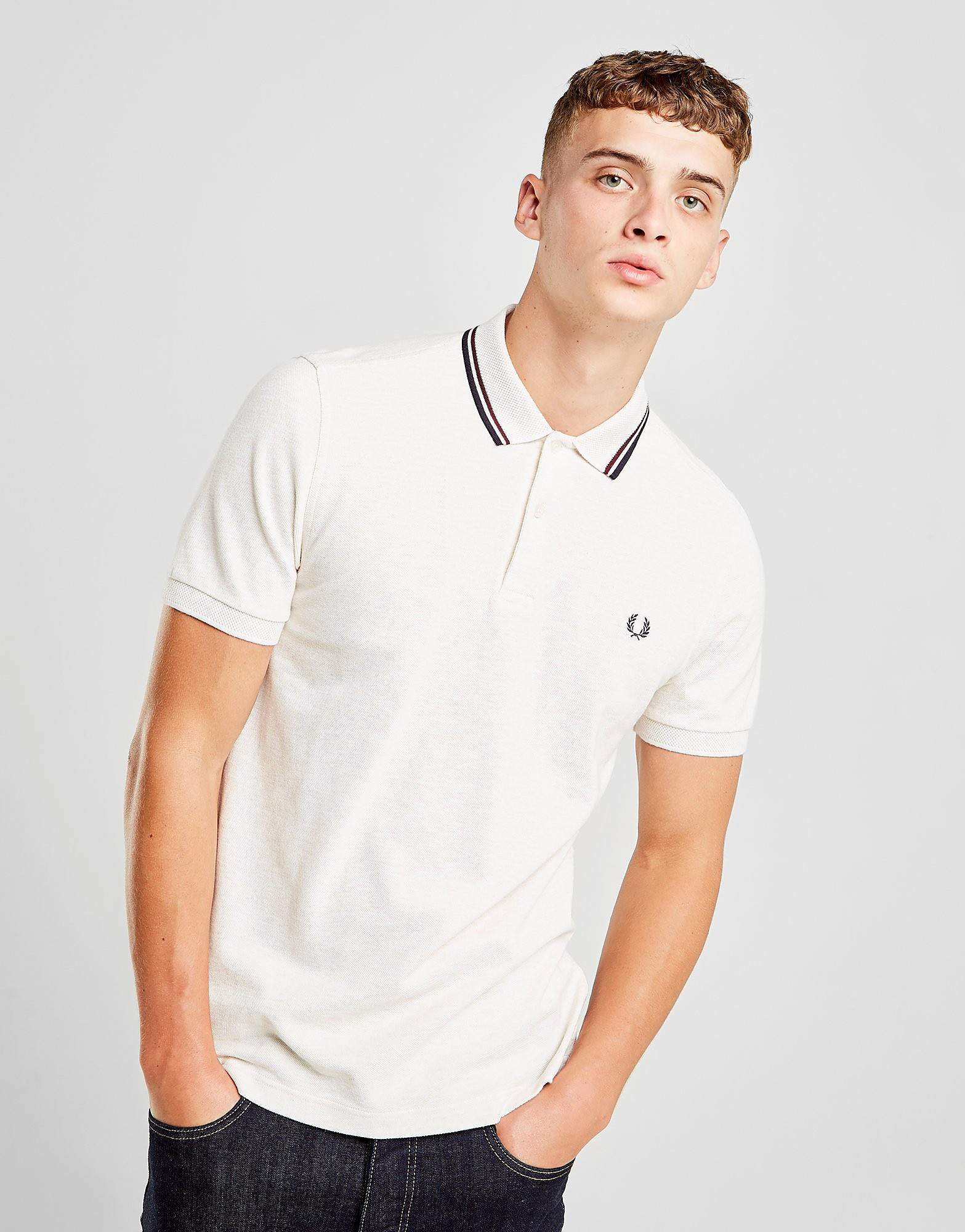 Fred Perry Textured Collar Polo Shirt