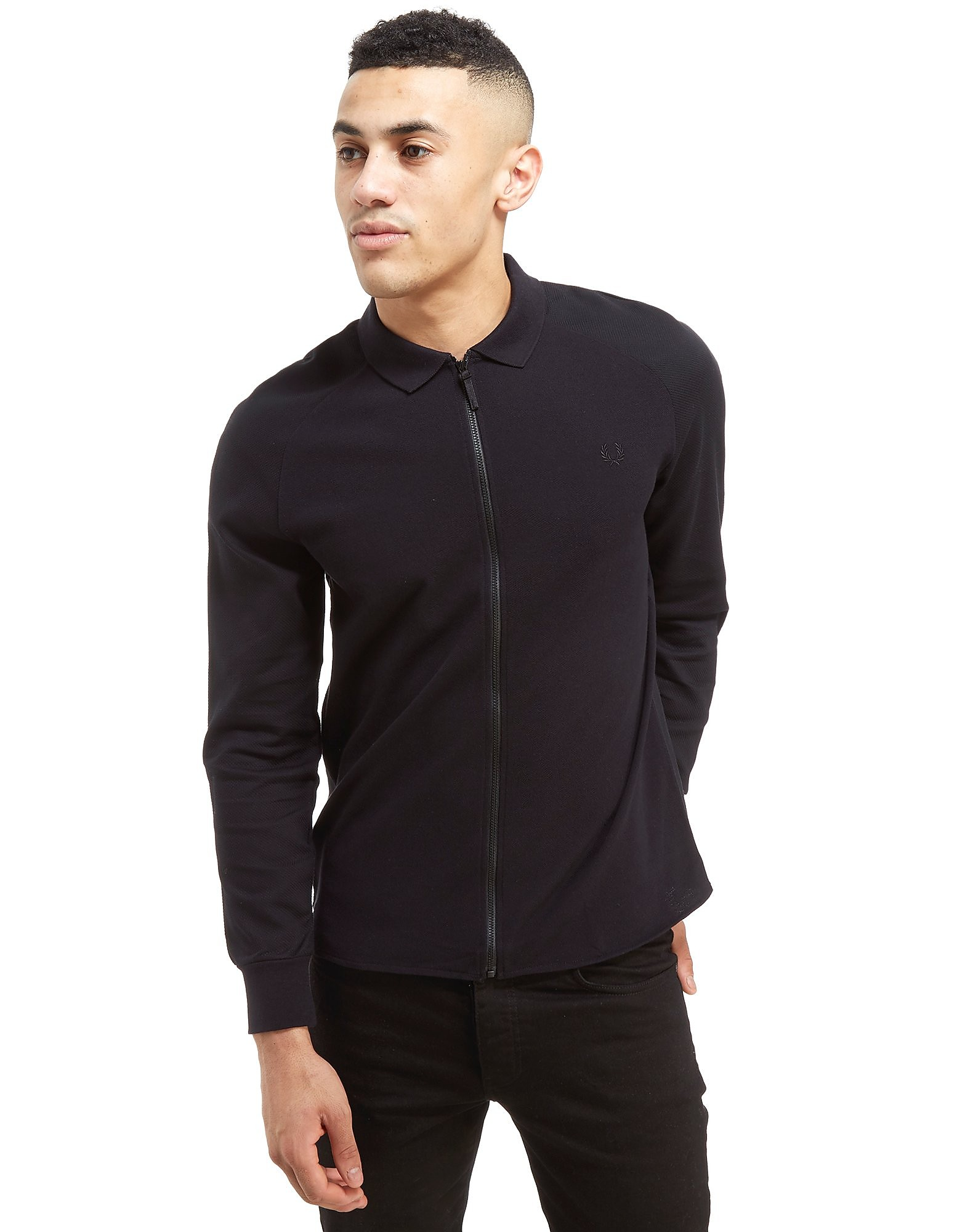 Fred Perry Long Sleeve Zip Through Pique Shirt