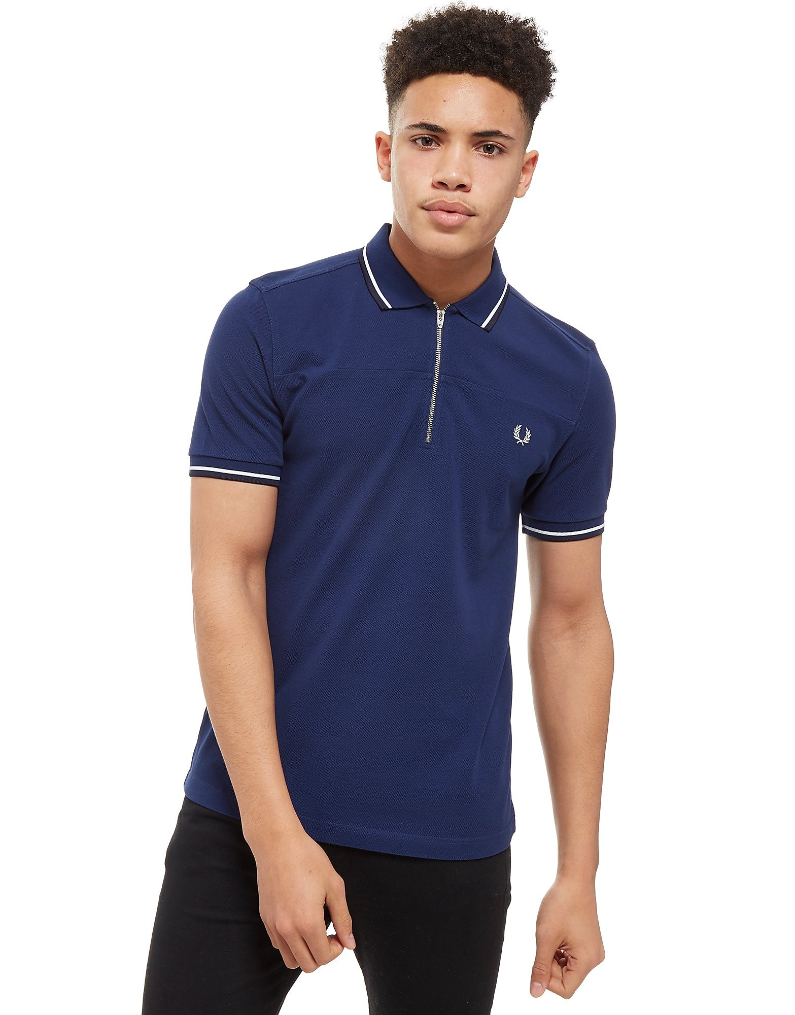 Fred Perry Zip Neck Polo Shirt