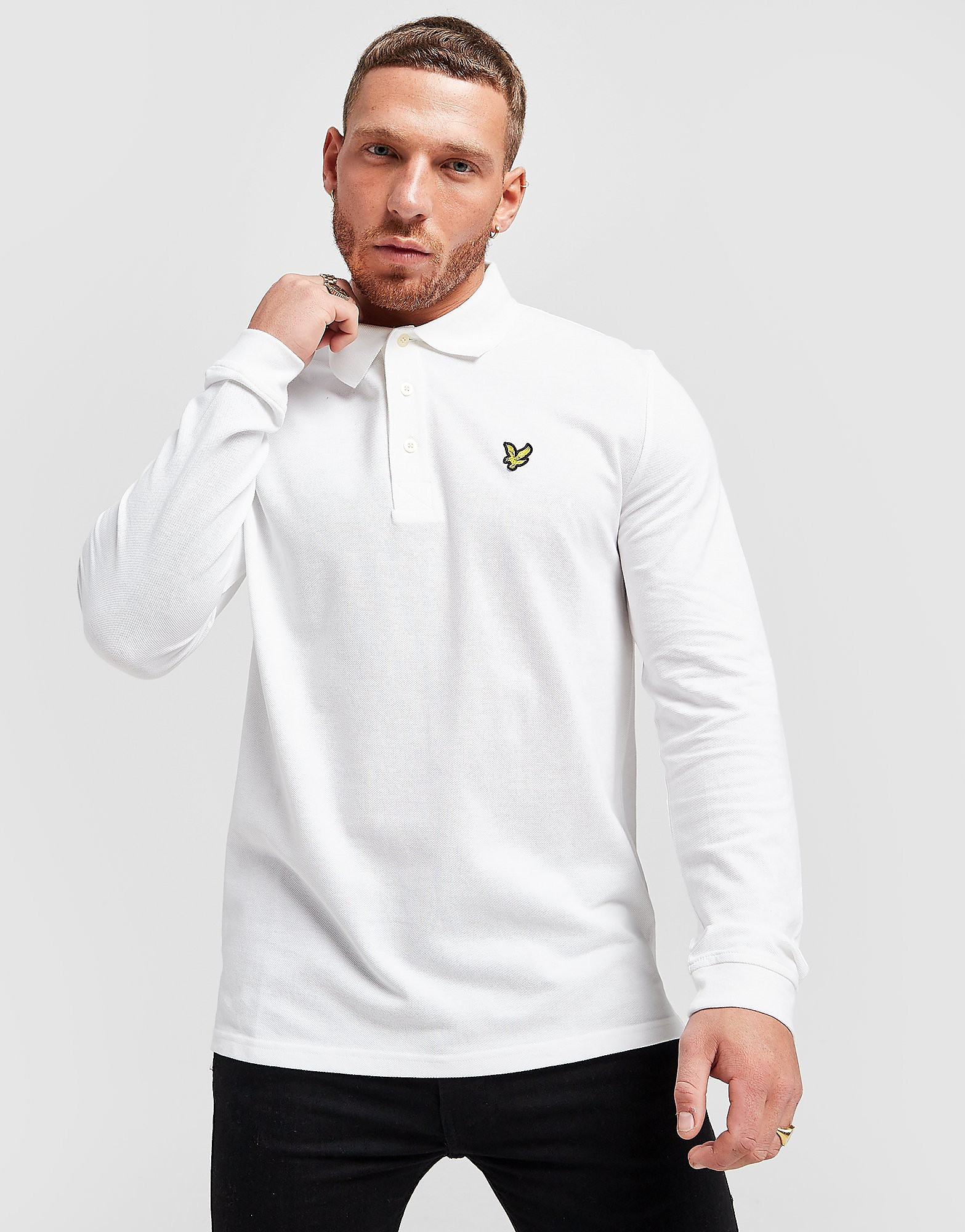 Lyle & Scott Long Sleeve Core Polo Shirt Heren - Wit - Heren