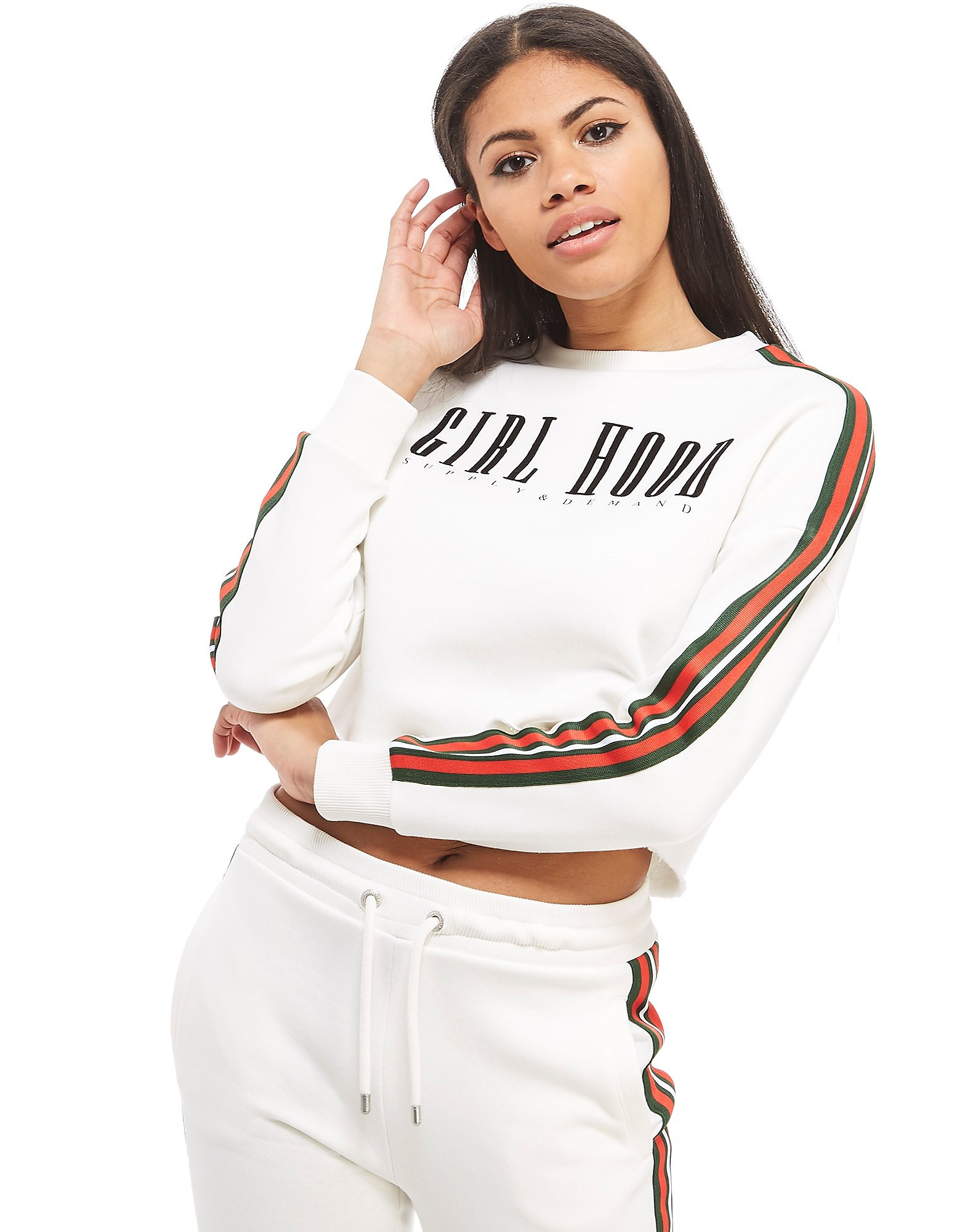Supply & Demand Cropped Tape Crew Sweatshirt
