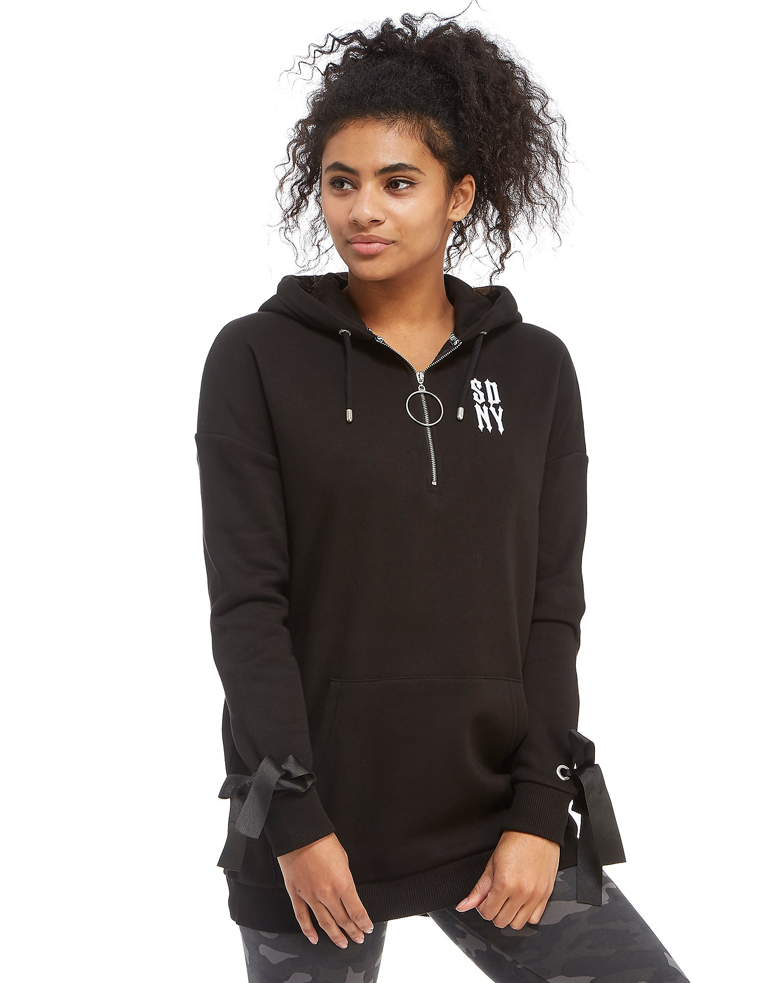 Supply & Demand Oversized Eyelet Hoodie
