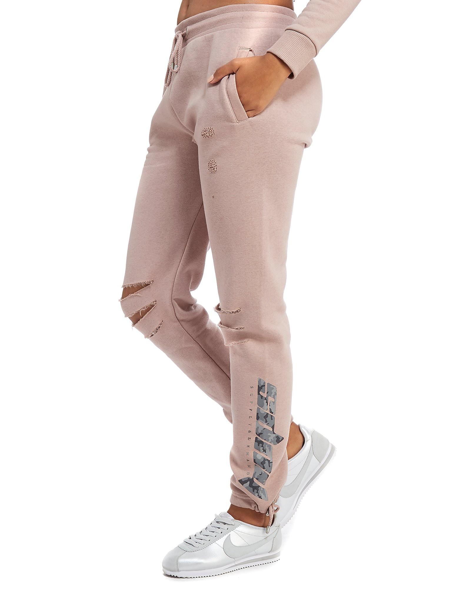 Supply & Demand pantalón de chándal Camo Tie