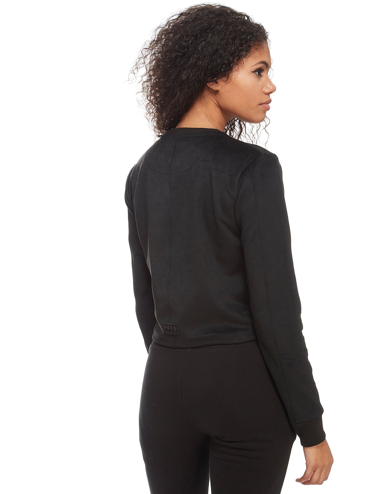 Supply & Demand Suede Long Sleeve T-Shirt Dames